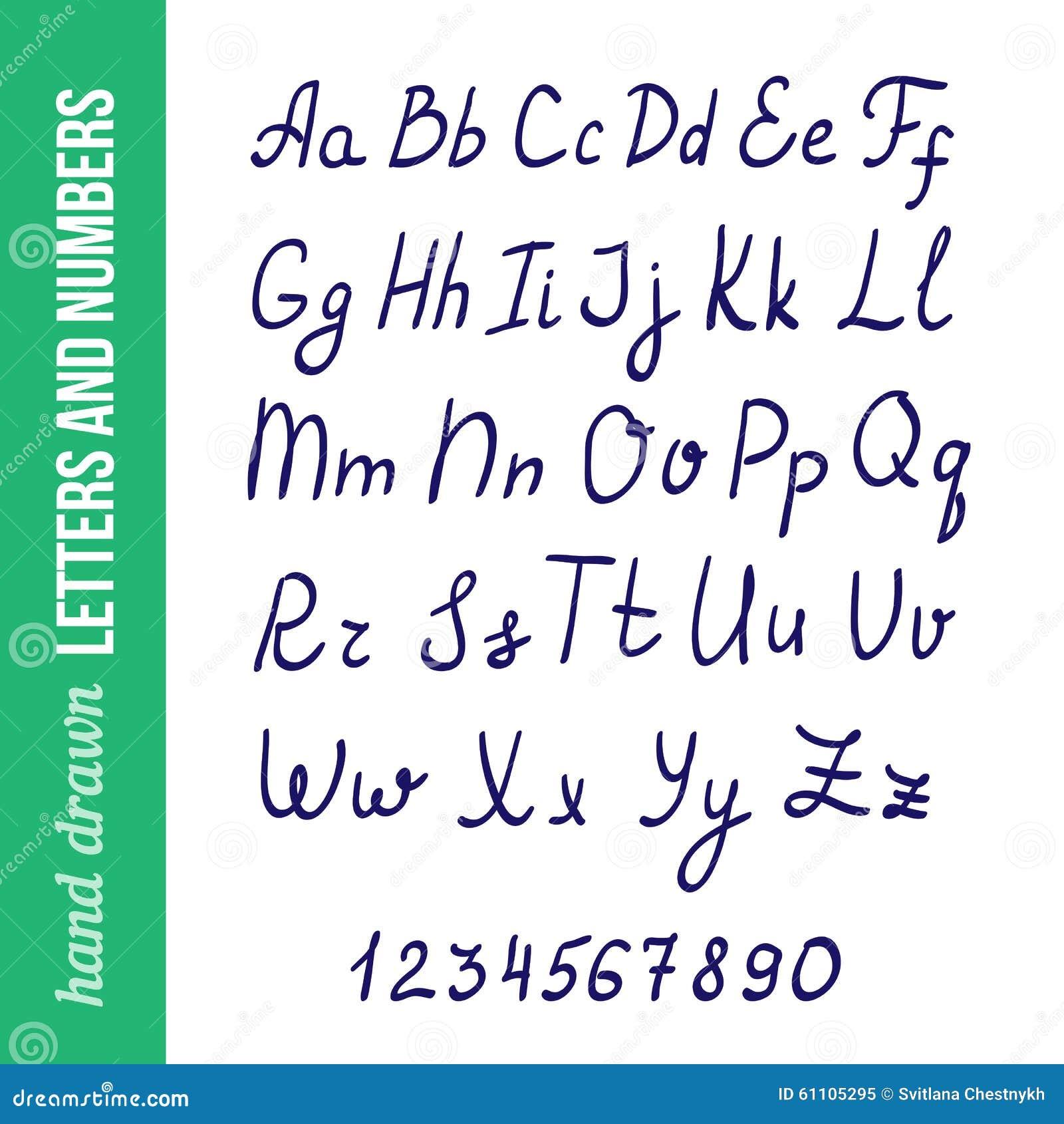 hand writing styles
