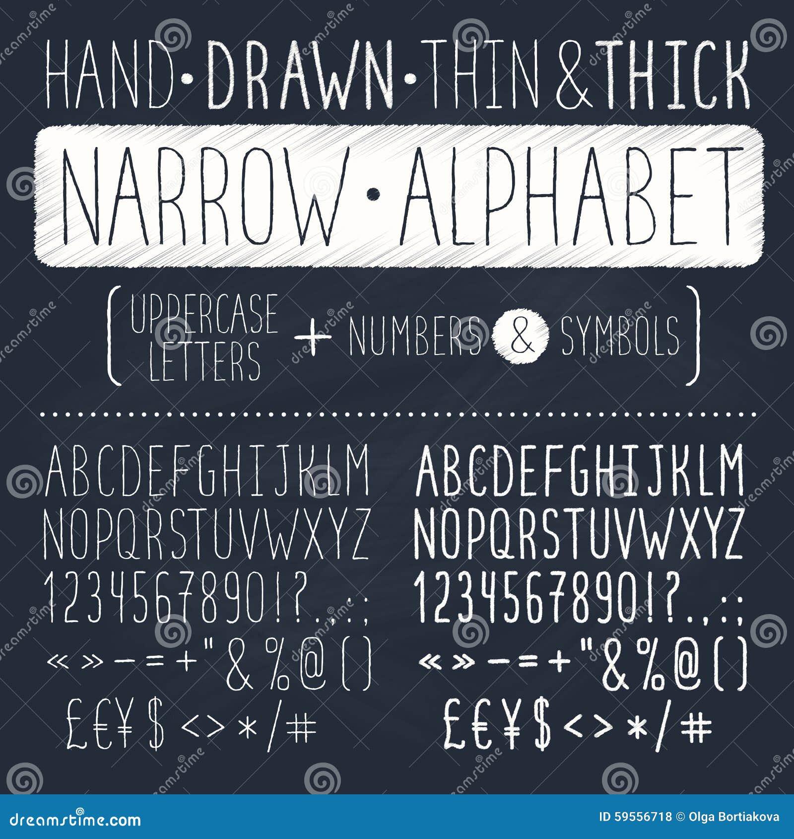 Hand Drawn Font Stock Vector Illustration Of Mark Chalkboard