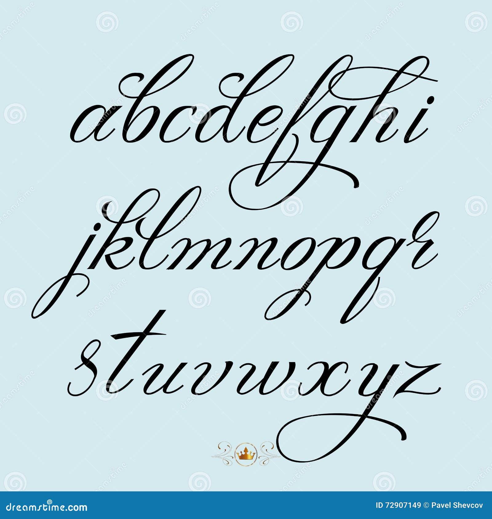 Hand Drawn Font Stock Vector Illustration Of Script
