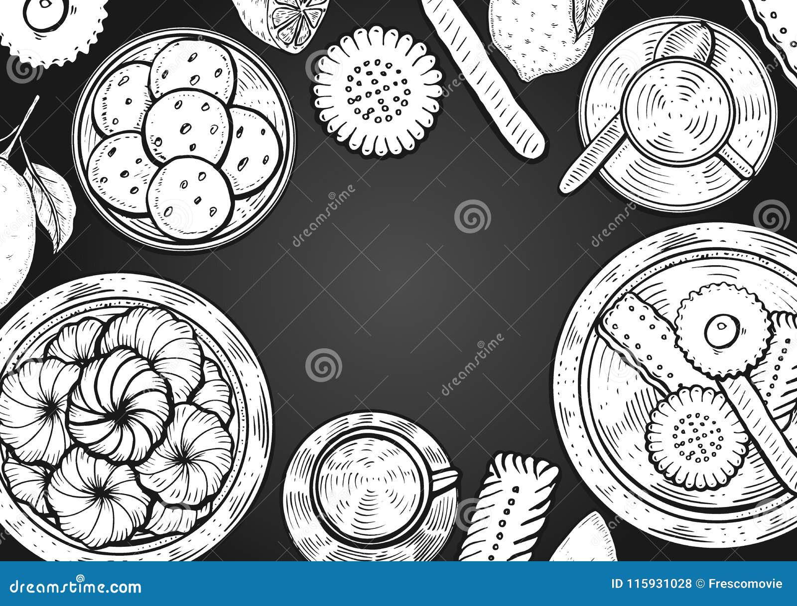 Oriental Sweets Illustration Stock Vector Illustration Of
