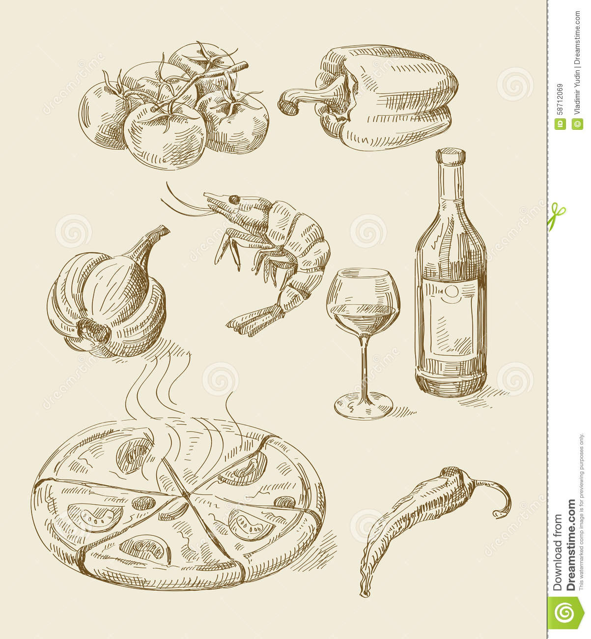 Hand Drawn Food Sketch Stock Vector