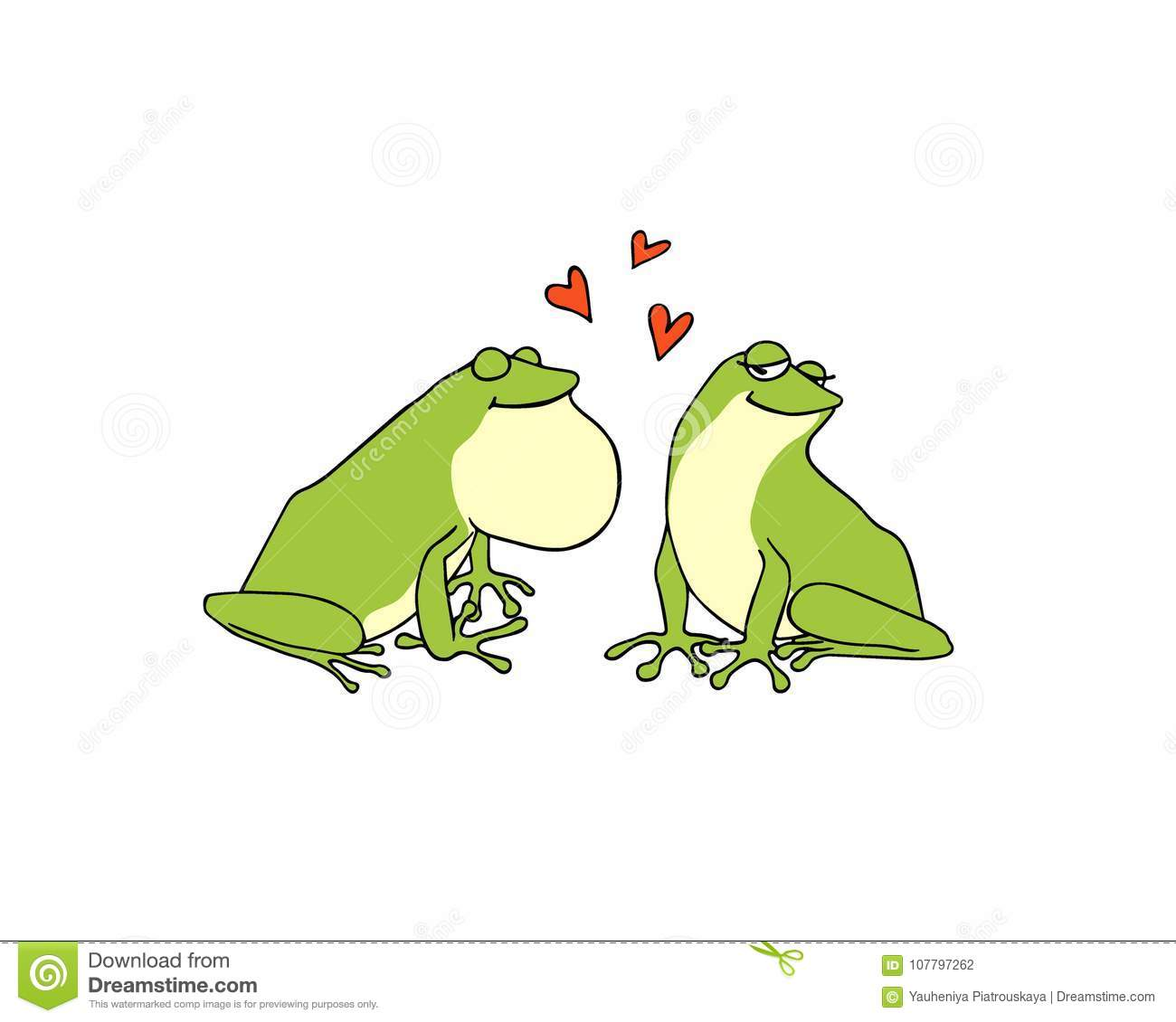 hand drawn frogs stock vector illustration of animal 107797262 rh dreamstime com Turtle Vector Frog Prince
