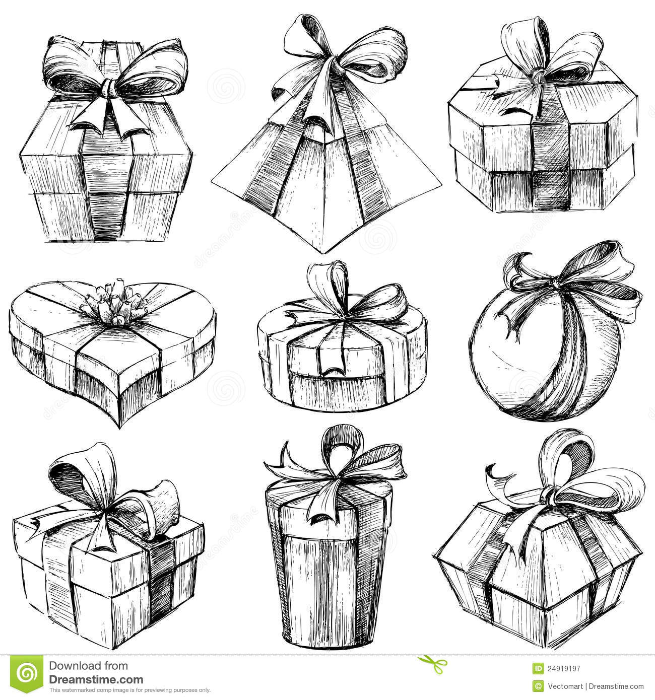 Hand Drawn Gift Box Royalty Free Stock Photography Image 24919197