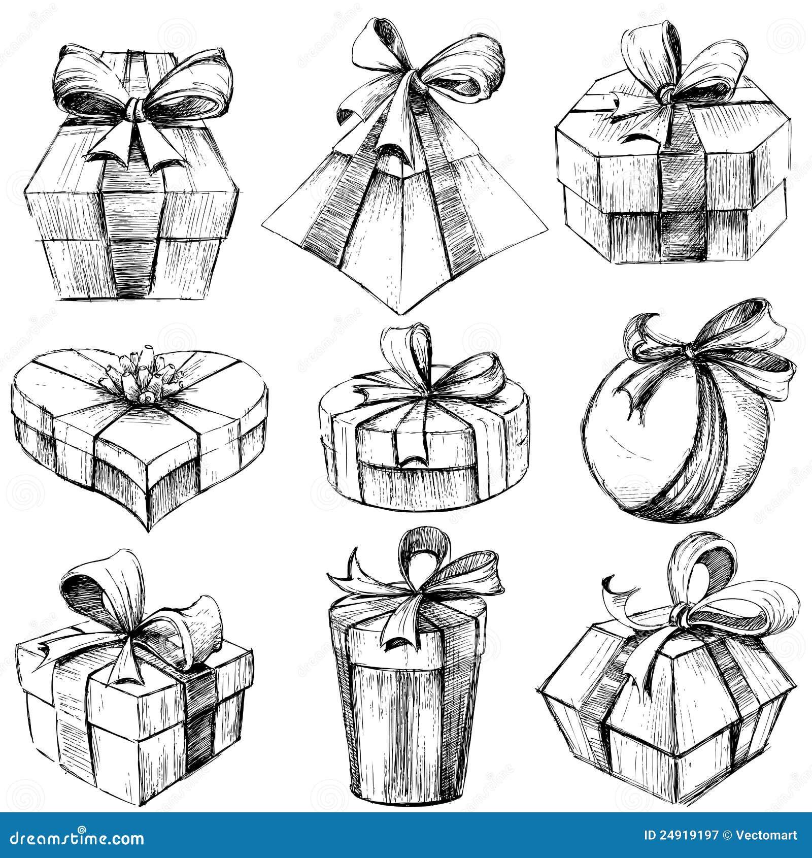 Рисунки коробок для подарков