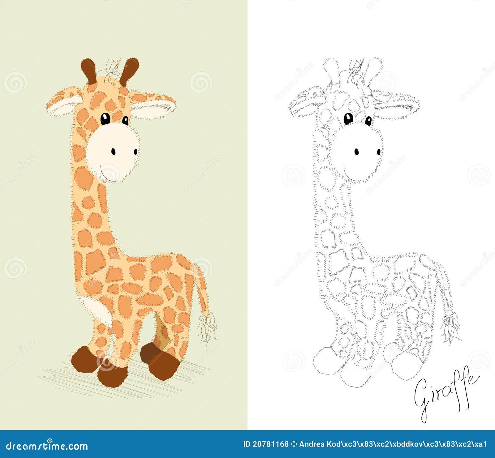 Hand Drawn Giraffe Toy Royalty Free Stock Photos Image