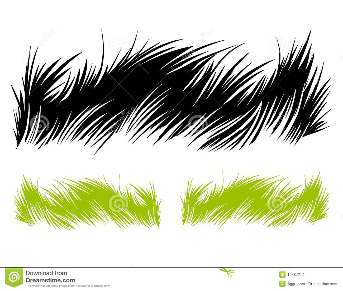 Line Drawing Grass : Hand drawn grass stock images image