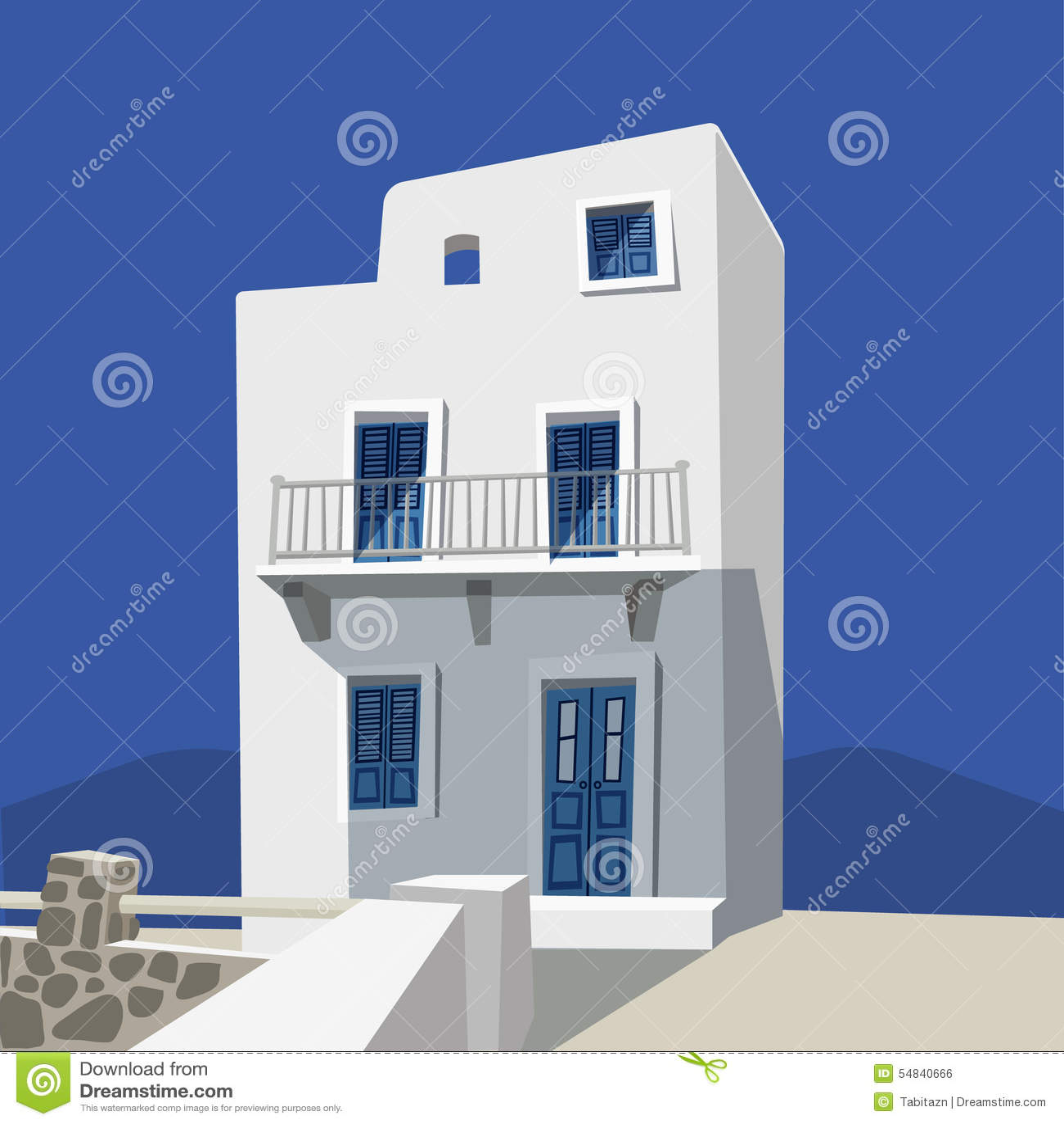 background design flat greek house ...