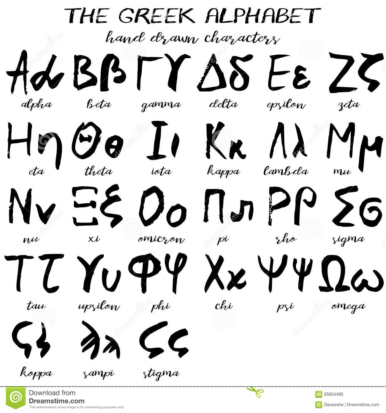 Hand drawn grunge greek alphabet stock vector illustration of hand drawn grunge greek alphabet biocorpaavc Choice Image