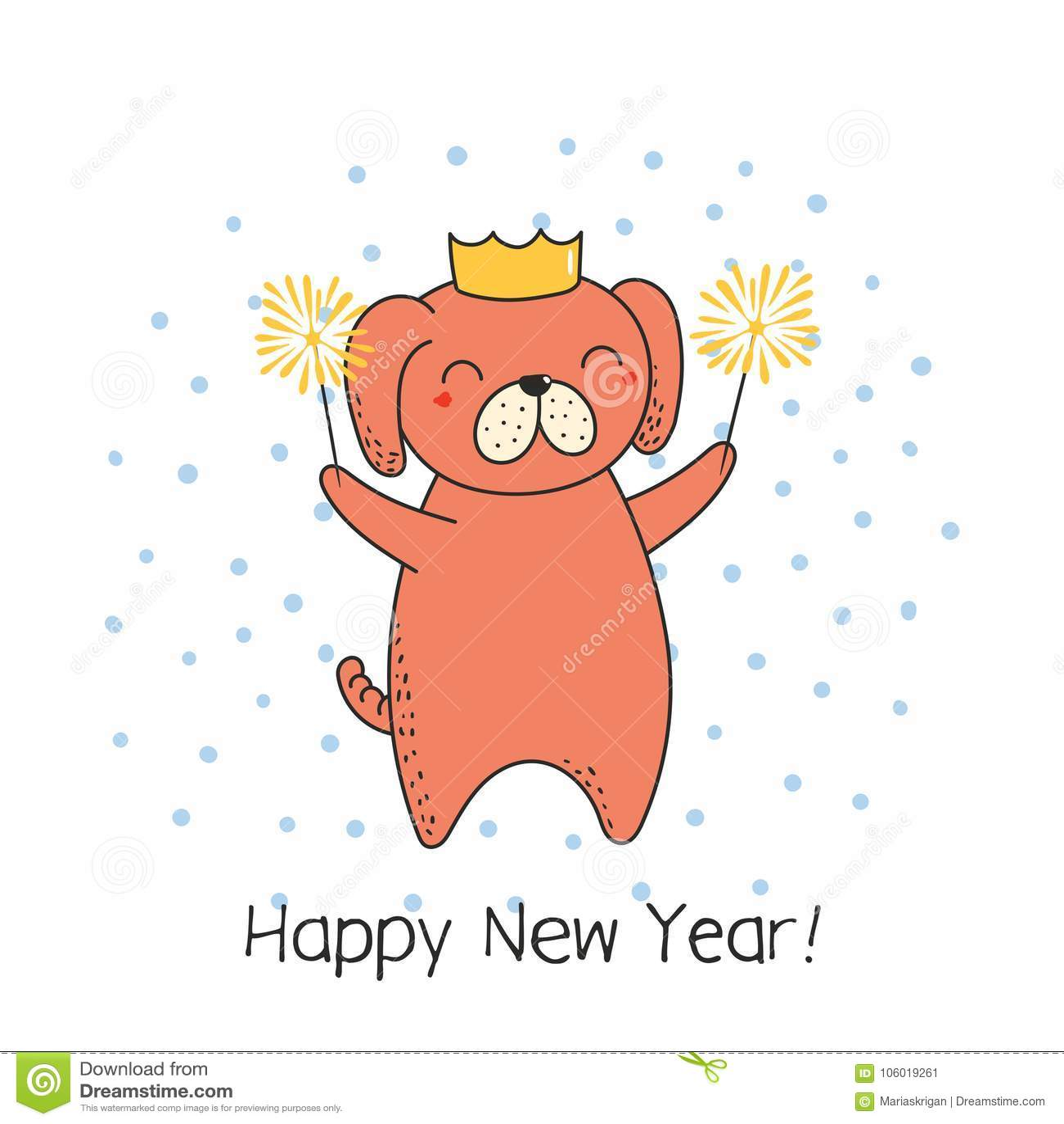 cute new year card banner