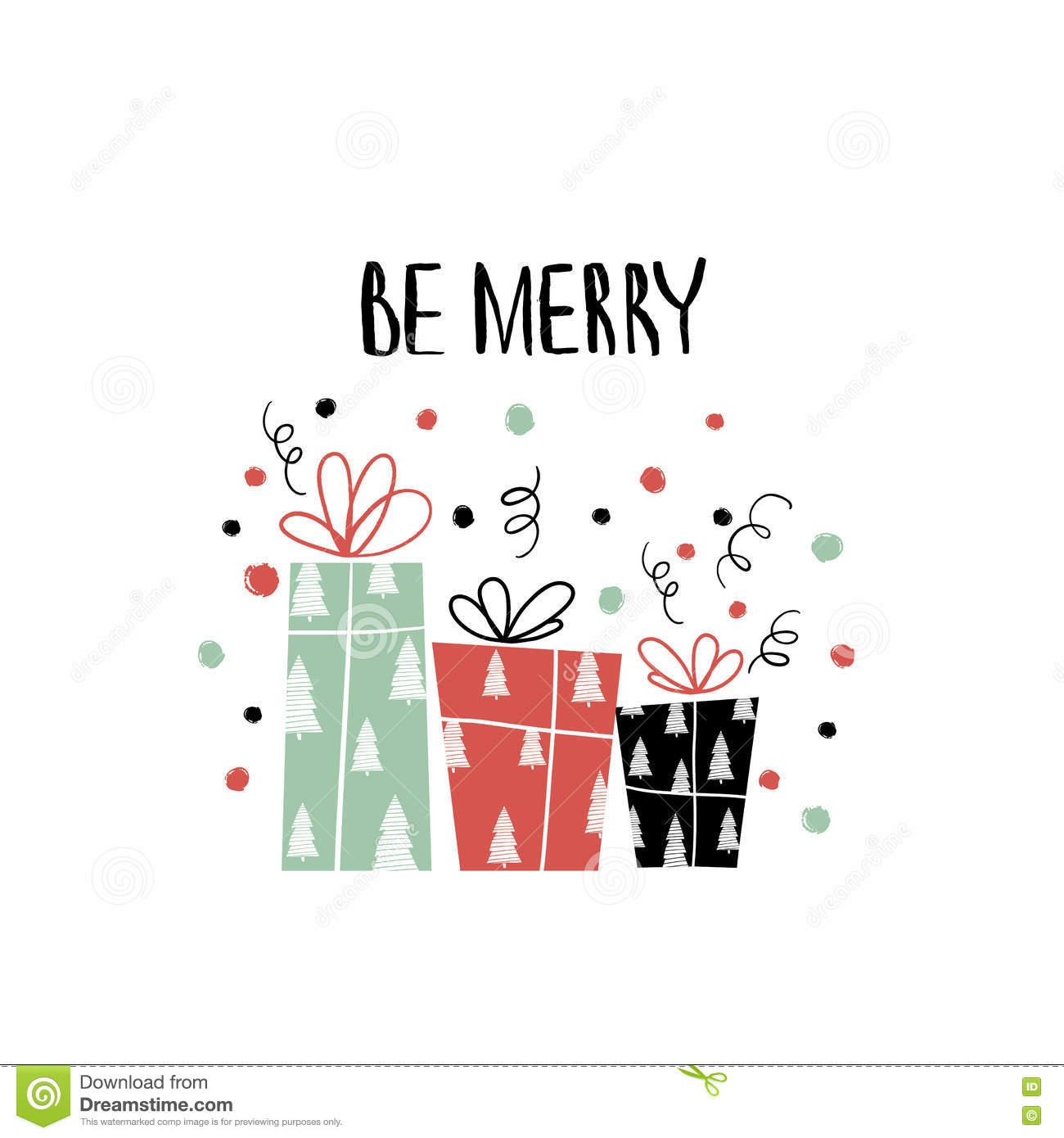 Hand drawn holiday lettering. Christmas collection of unique lettering for greeting cards, stationary, gift tags, scrapbooking.