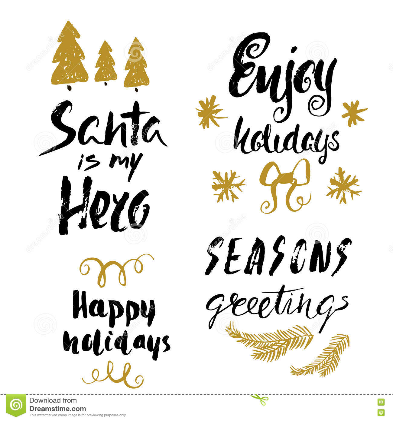 Hand drawn holiday lettering christmas collection of unique download hand drawn holiday lettering christmas collection of unique lettering for greeting cards stationary m4hsunfo