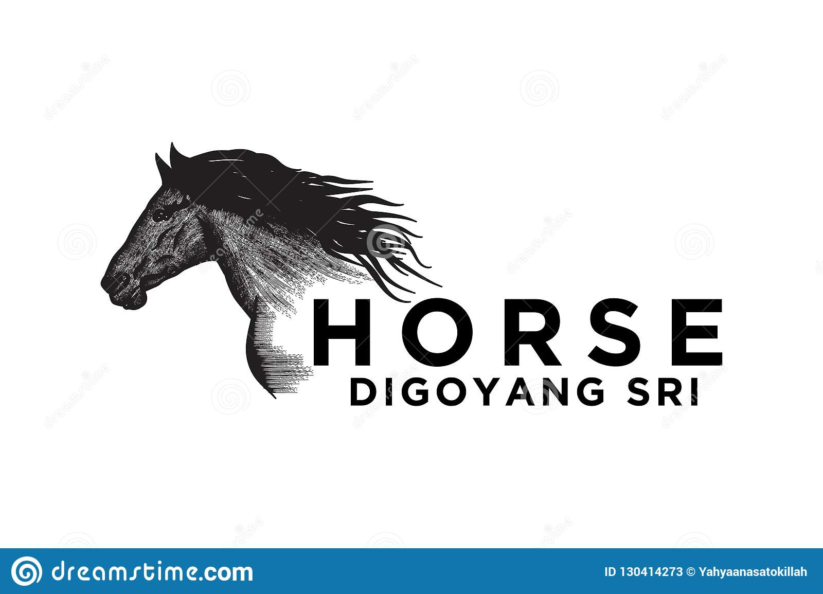 Hand Drawn Horse Logo Designs Inspiration Isolated On White Background Stock Vector Illustration Of Element Creative 130414273