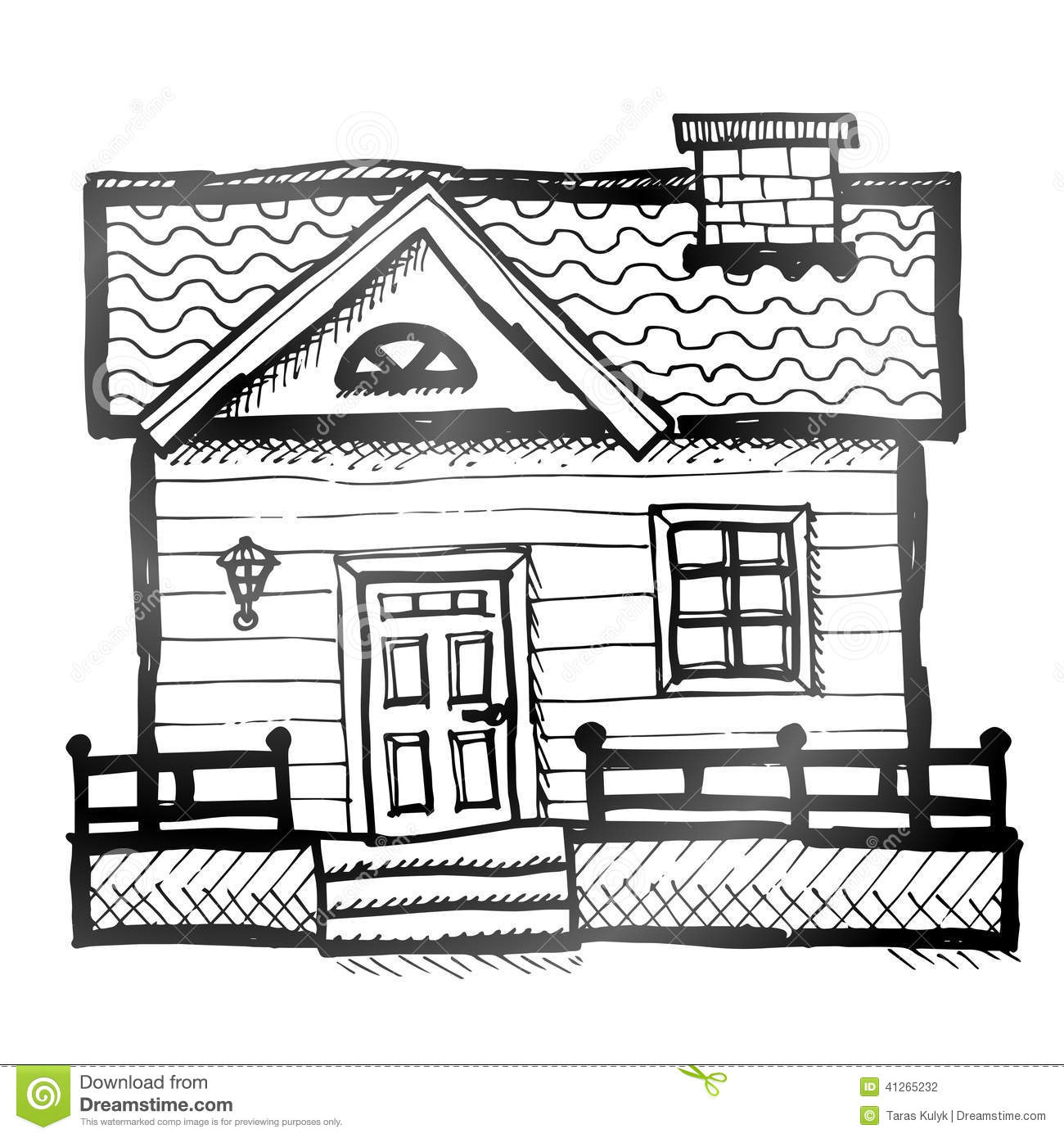 Hand drawn house stock vector image 41265232 Draw your house