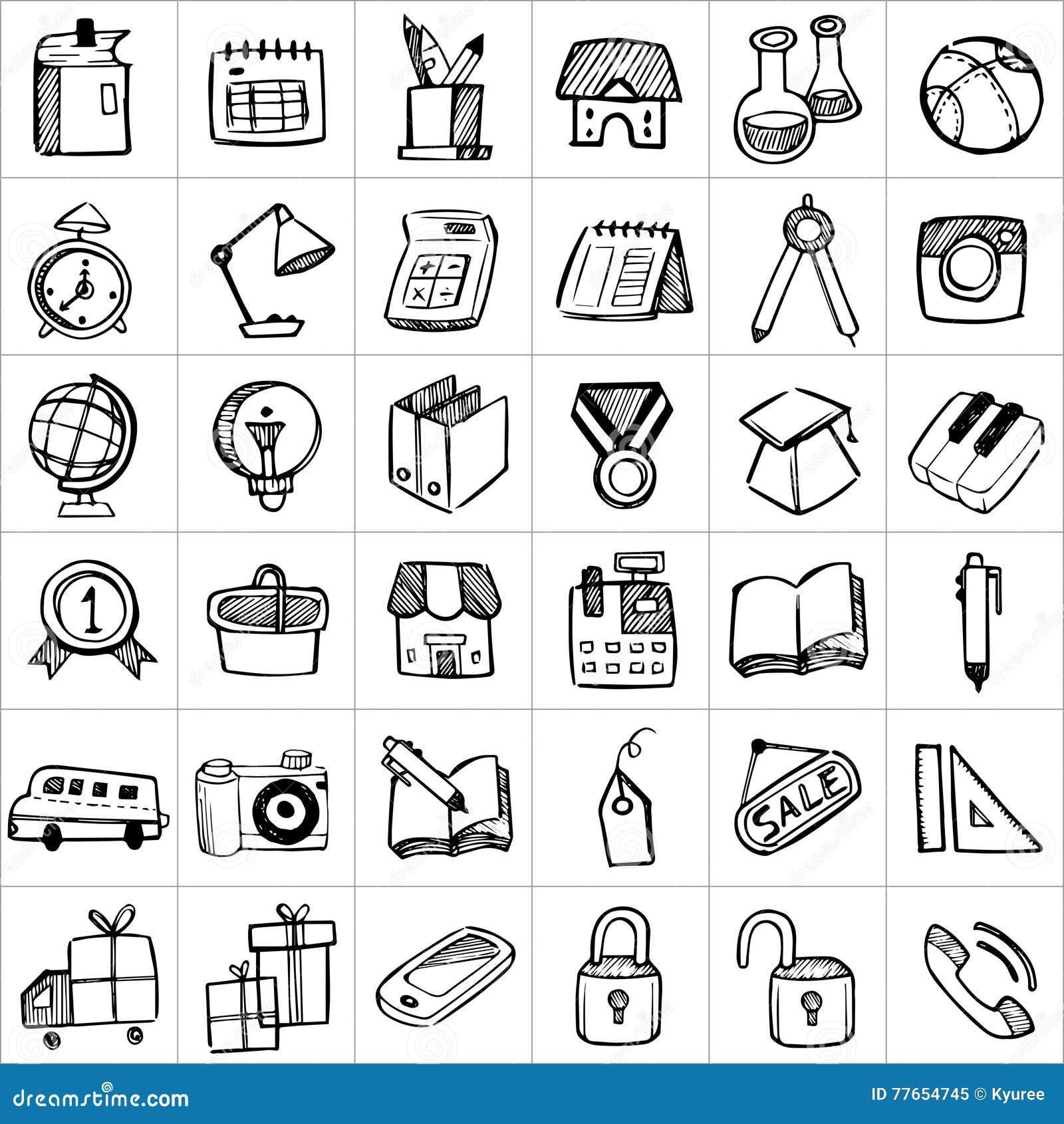 Hand drawn icons 002