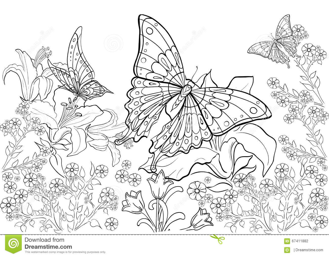 free relaxing coloring pages - hand drawn ink pattern coloring book coloring for adult