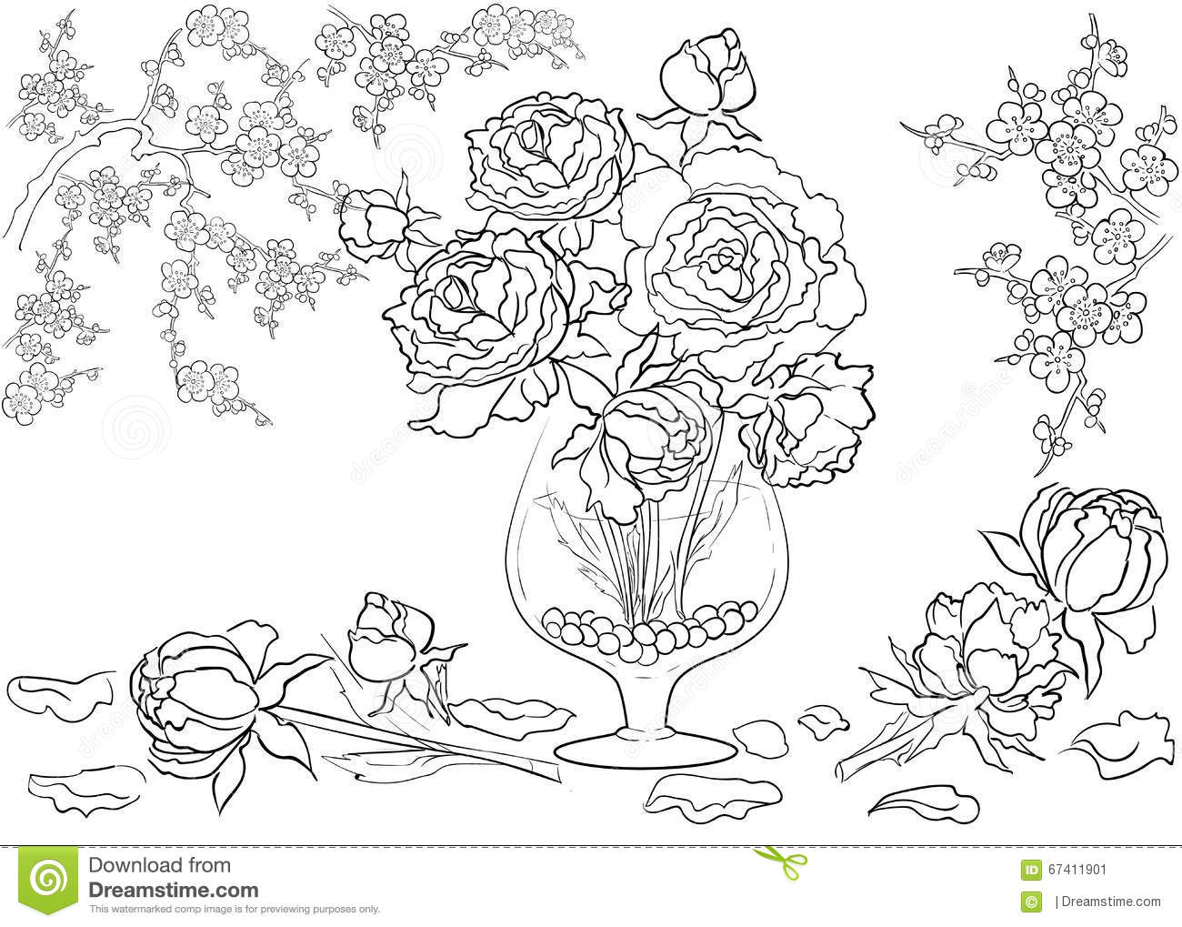 Very Detailed Coloring Pages On Images Free Download For: Hand Drawn Ink Pattern. Coloring Book Coloring For Adult