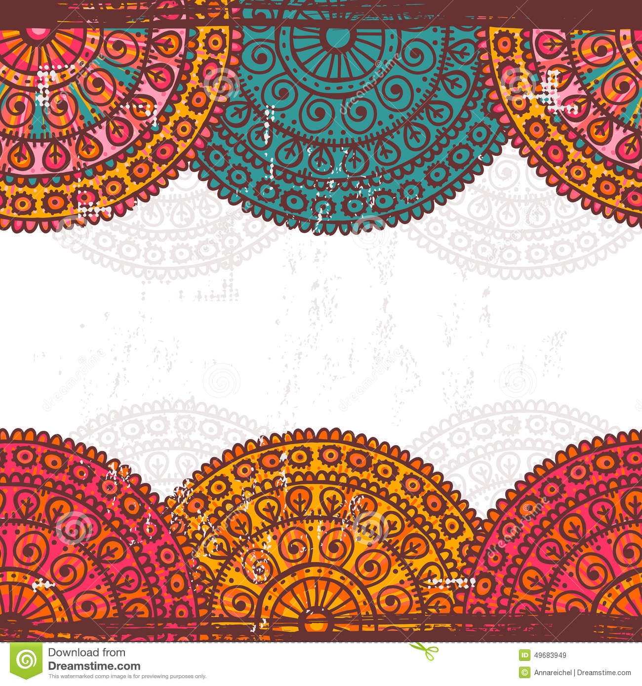 henna inspired banners borders - photo #48