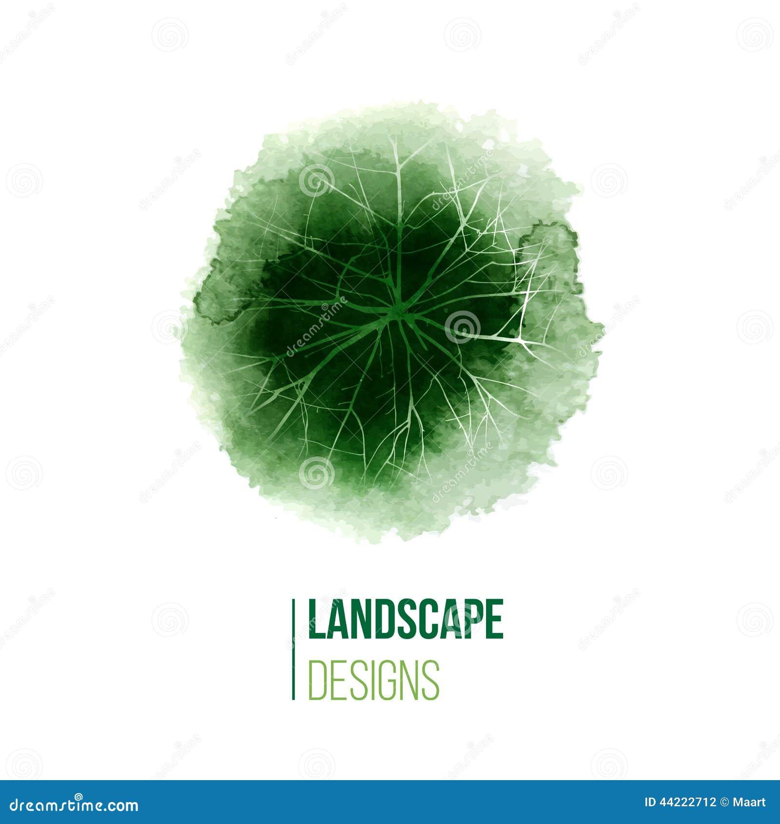 Hand drawn landscape design logo stock vector image for Landscape design logo