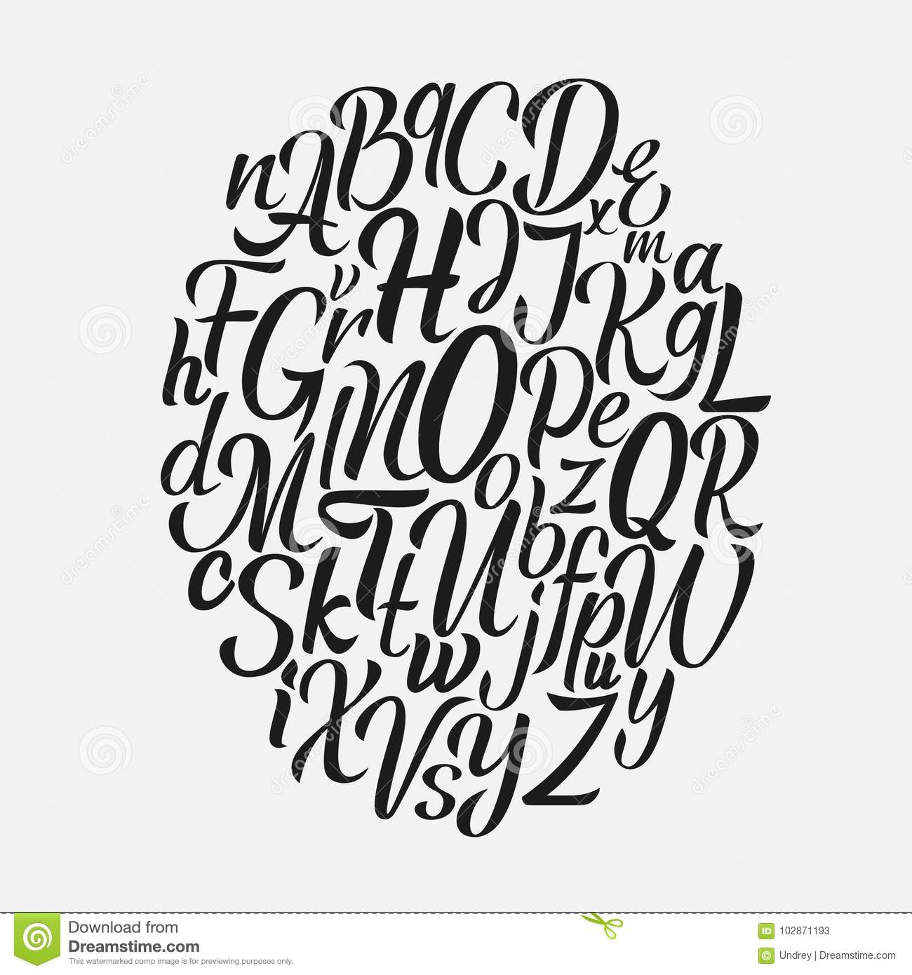 hand lettering fonts free brush script font vector type vector 22073