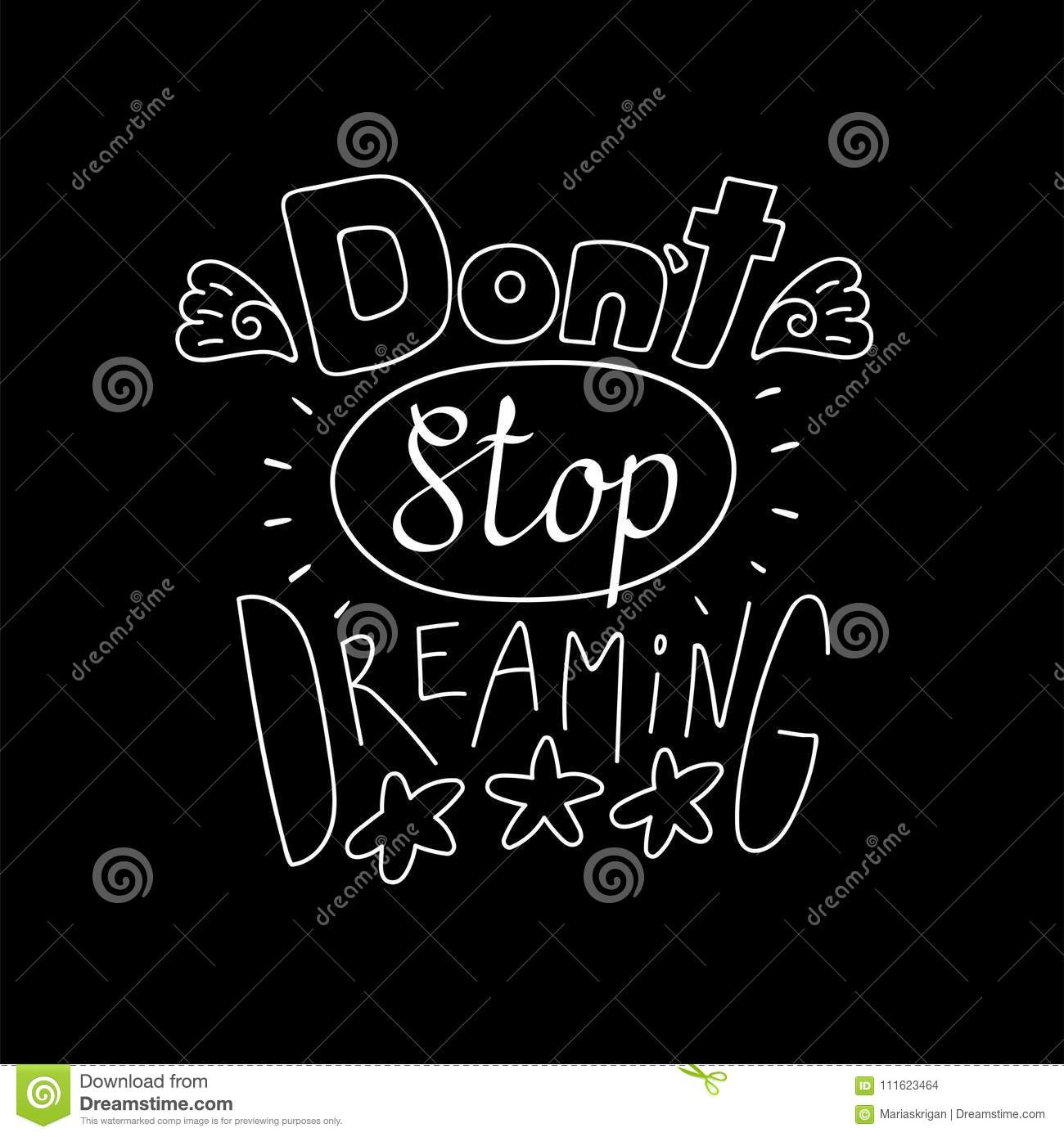 Inspirational Lettering Quote Stock Vector - Illustration of ...
