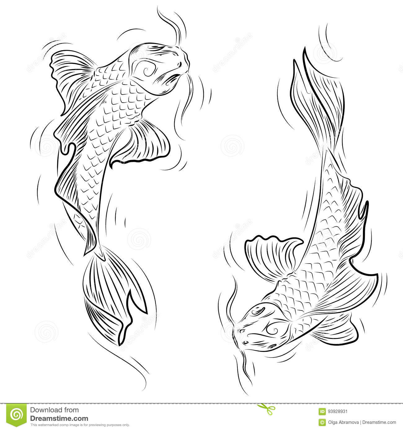 Adult Koi Fish Coloring Page - Get Coloring Pages | 1390x1300
