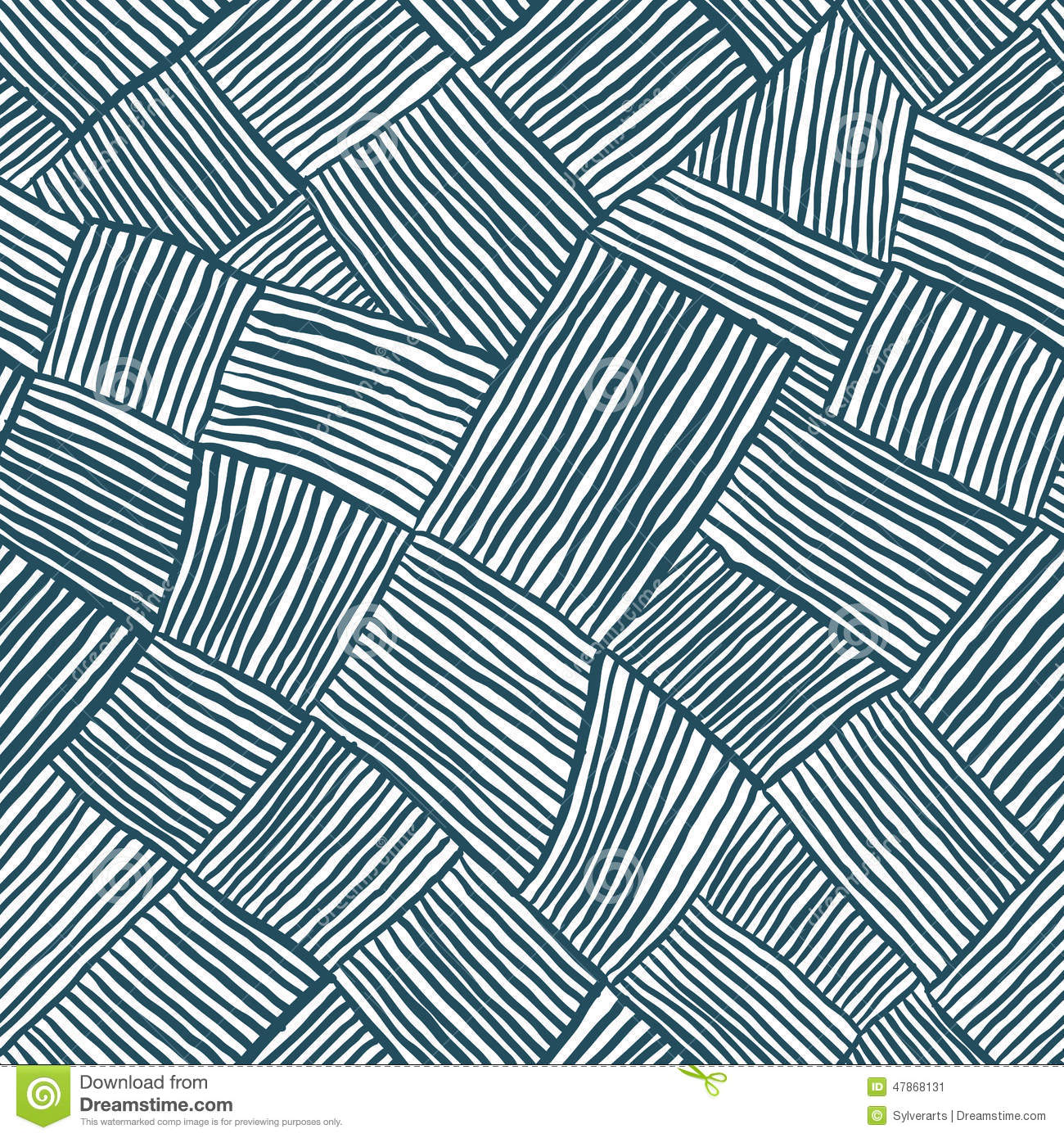 Hand Drawn Lines Seamless Pattern. Stock Vector - Image ...