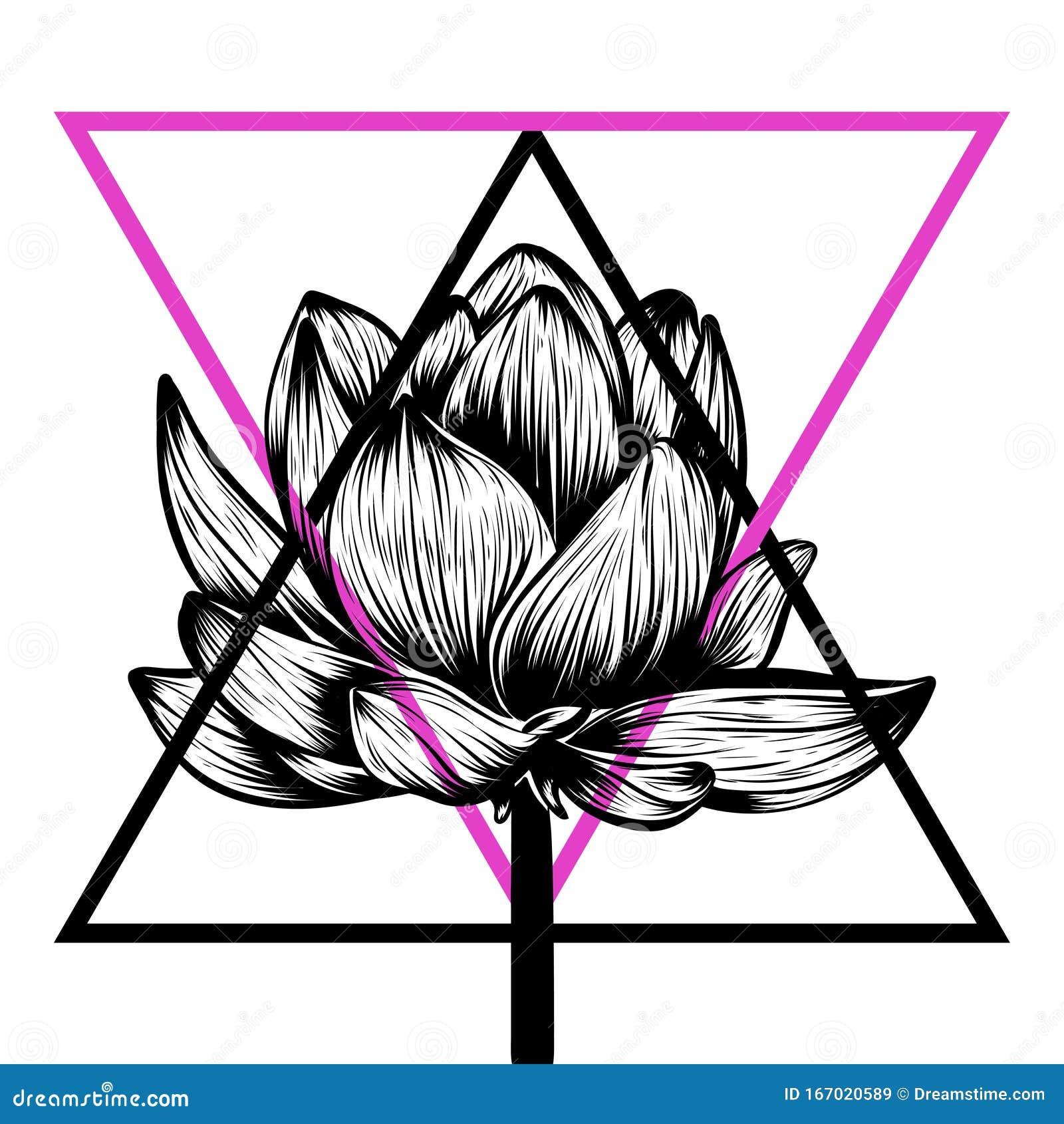 Hand Drawn Illustration Of Lotus Flower Stock Illustration Illustration Of Drawn Decorative 167020589