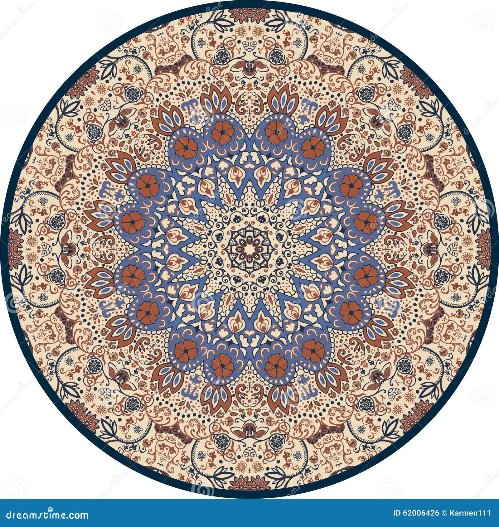 Hand-drawn Mandala Design.Circle, Round, Pattern Stock