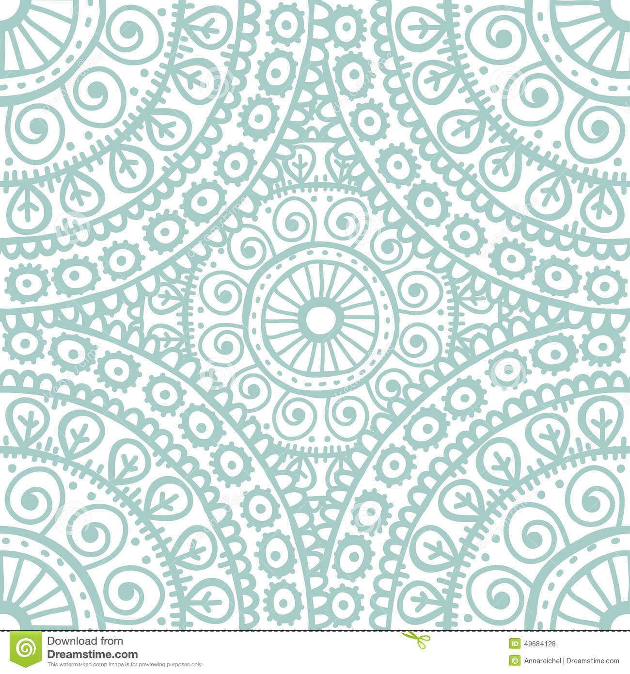 light blue lace mandala - photo #31