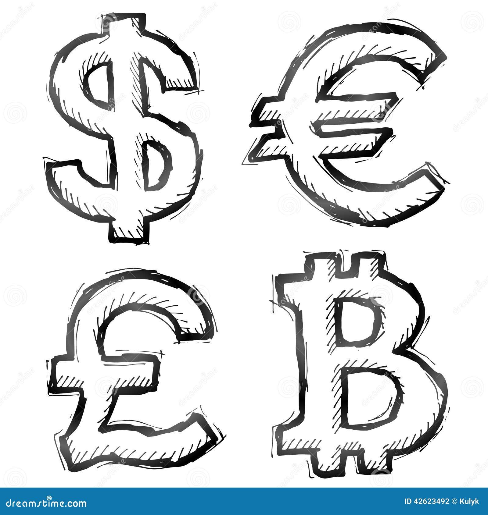 hand drawn money symbols stock vector image 42623492 accountant clip art free accounting clip art free