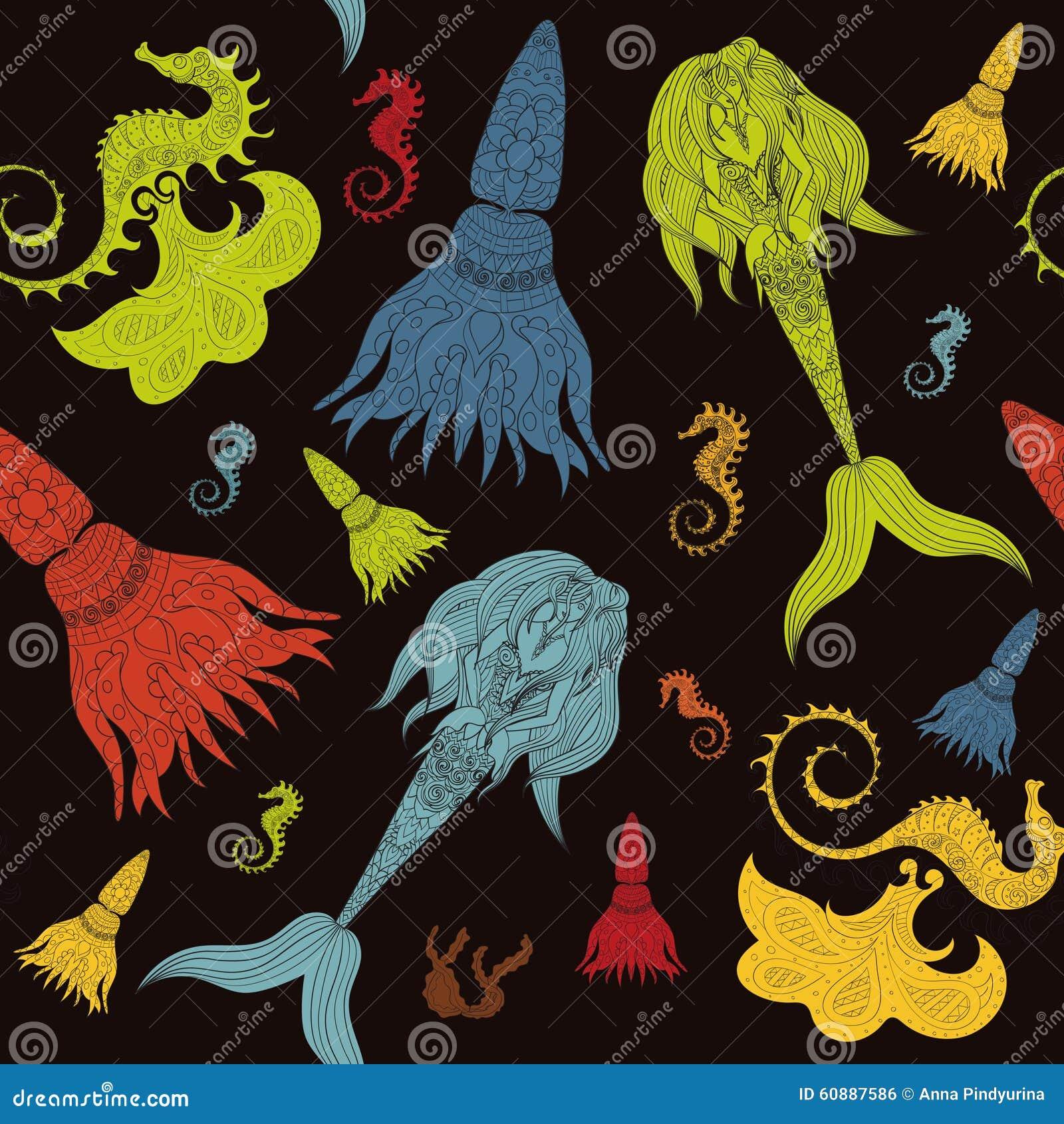 Fairy Tail Horse Vector Illustration
