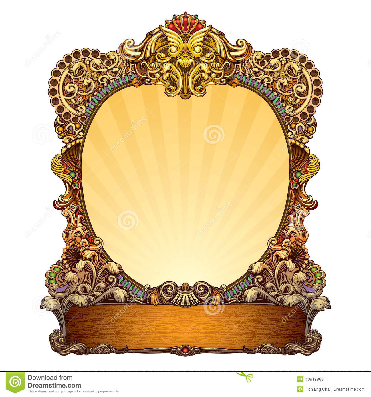 hand drawn ornate frame