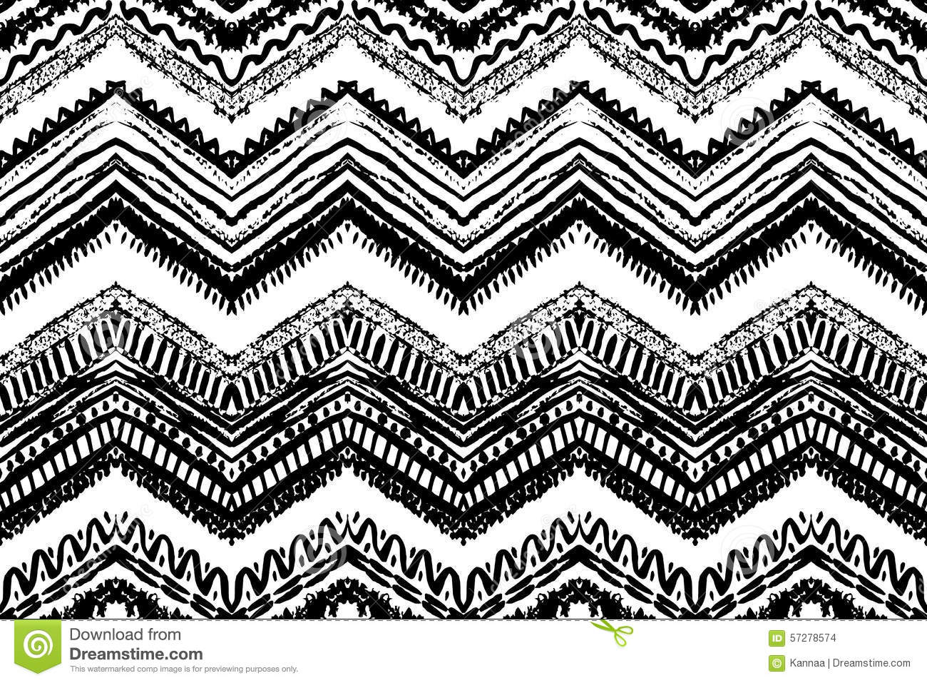 hand drawn painted seamless pattern vector stock vector. Black Bedroom Furniture Sets. Home Design Ideas