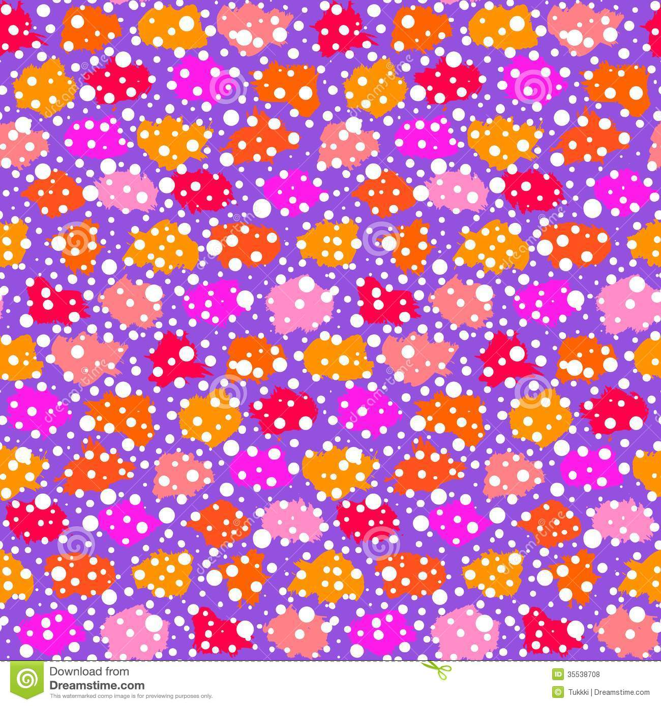 dots and brush strokes in bright color. Texture for web, print, kids ...