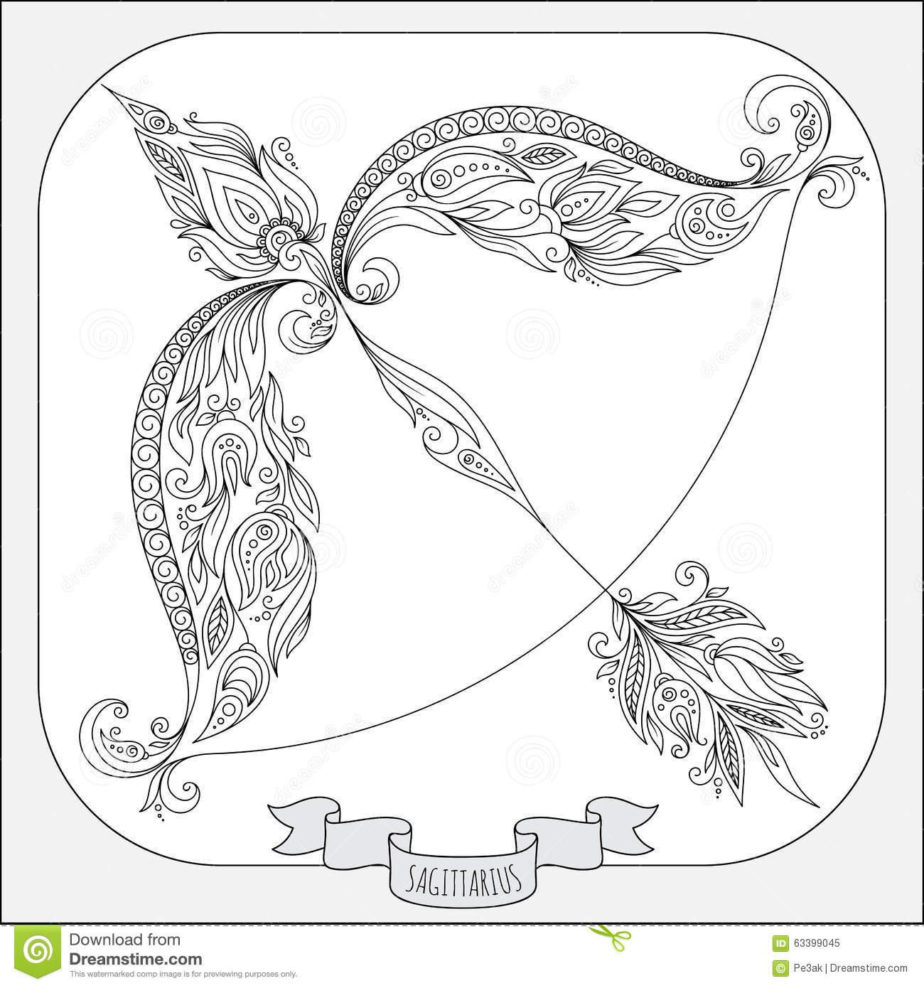 Free Coloring Pages Sagittarius