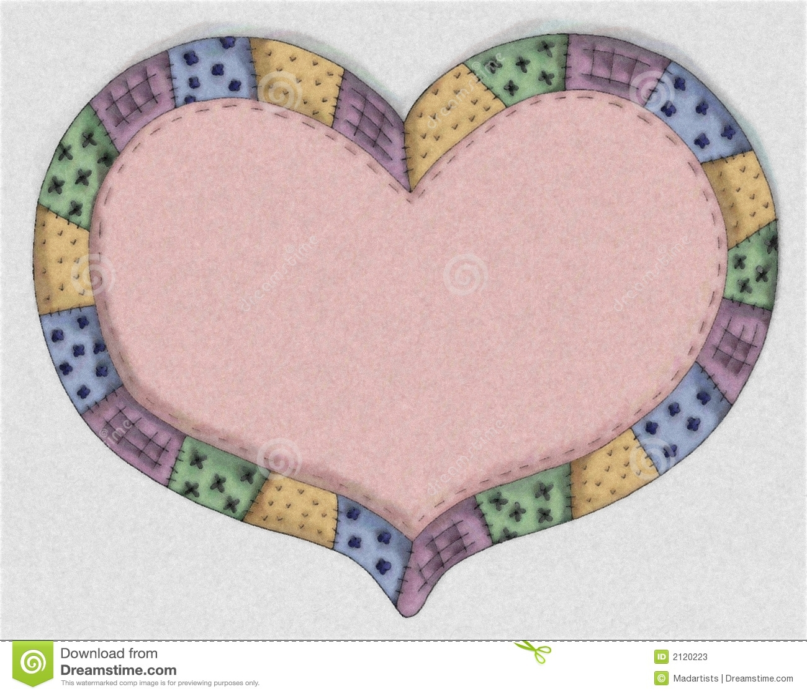 Quilt Border Clipart Hand drawn pink \x3cb\x3equilt\x3c/b\x3e heart ...