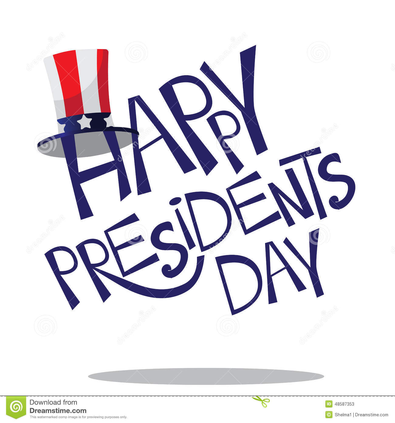 Extended Presidents Day: Hand Drawn Presidents Day Lettering Stock Vector