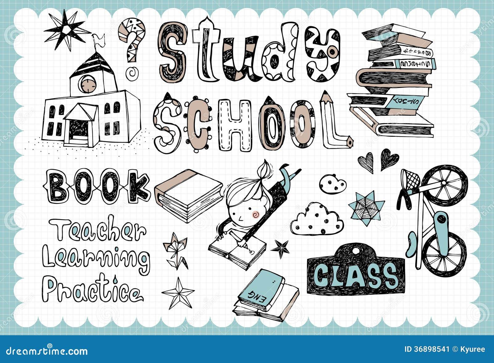 Hand Drawn School Set 01 Stock Vector Image Of Hand 36898541