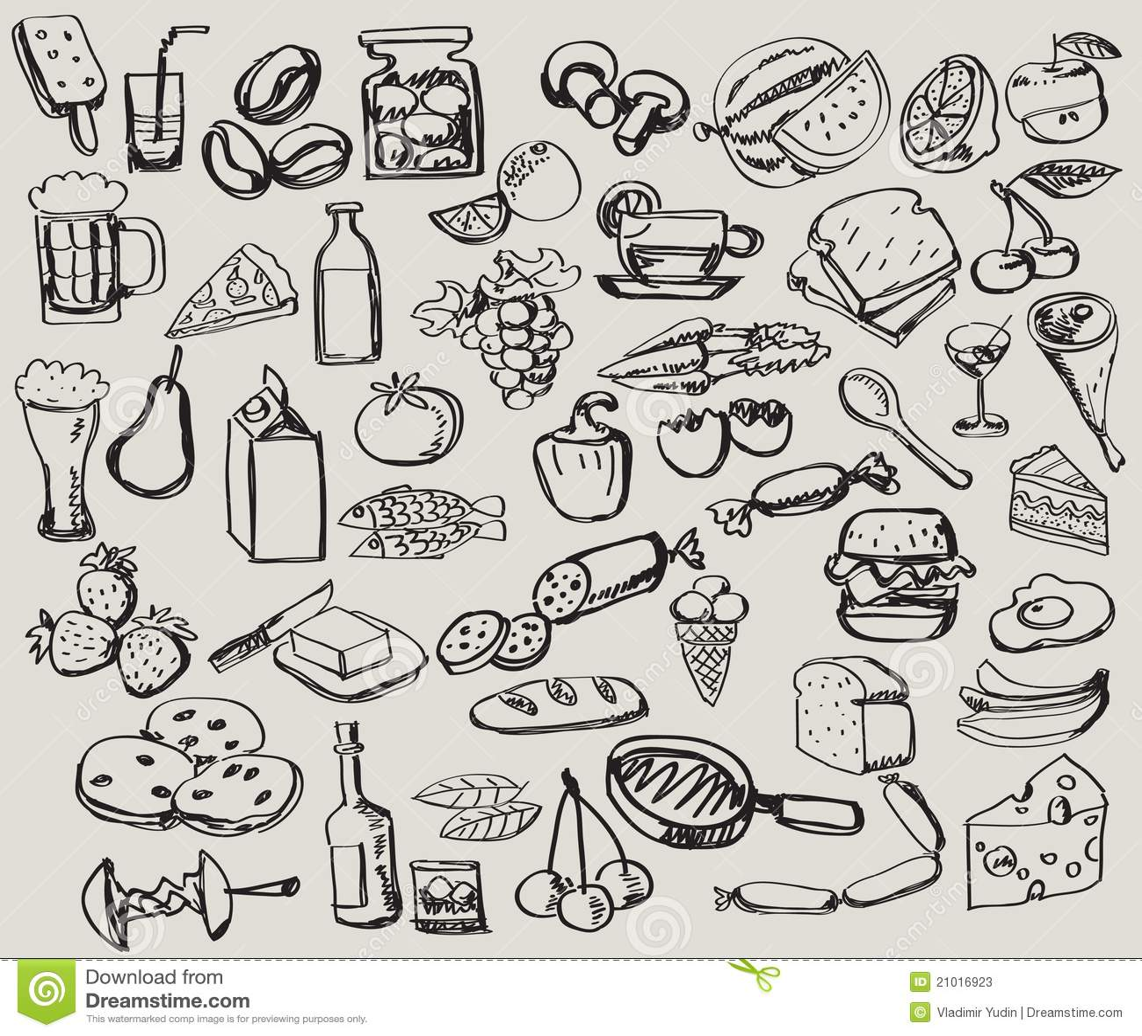 Hand Drawn Set : Kitchen
