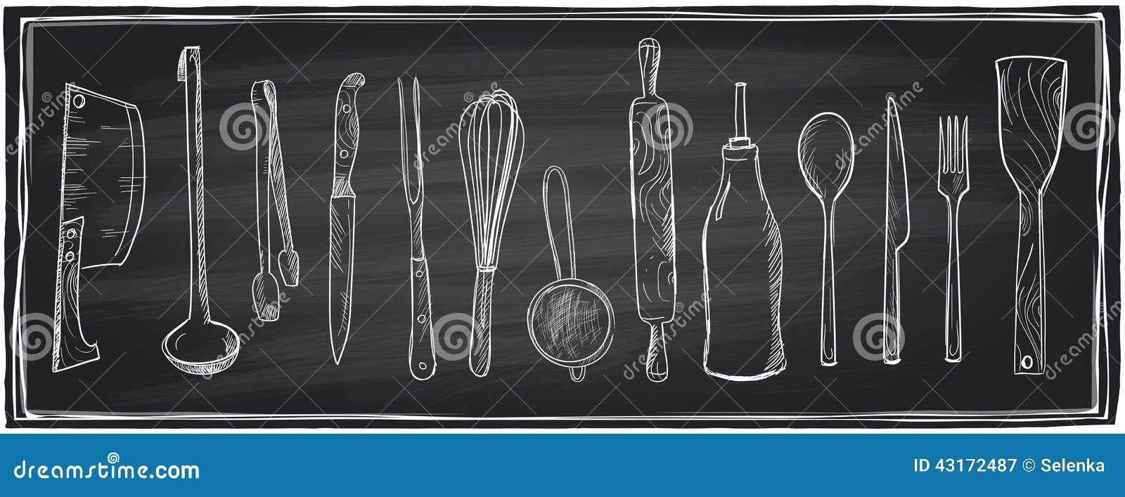 Chalkboard Decorative Kitchen Utensils