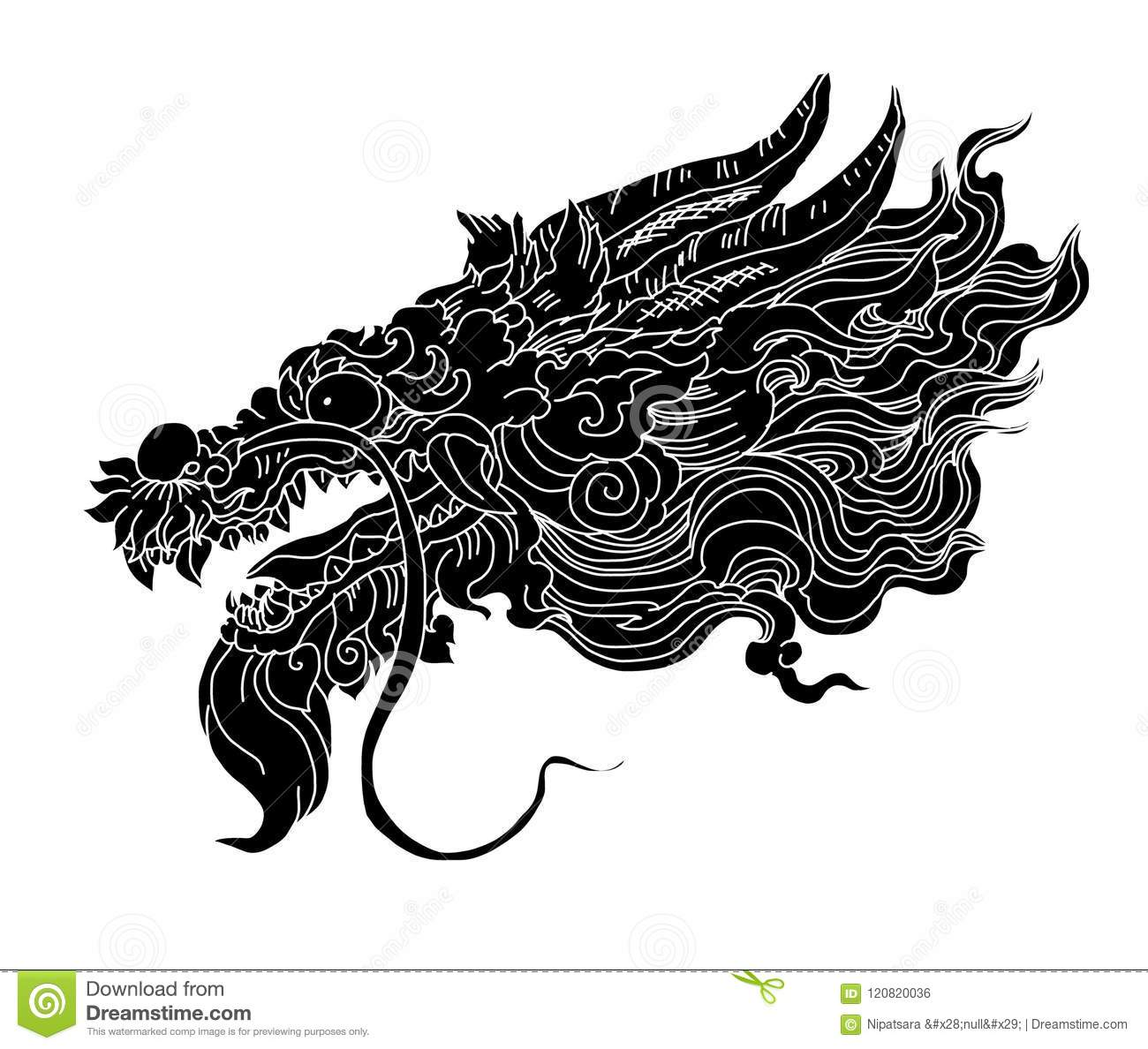 Dragon Isolate Vector,Chinese Dragon Tattoo Traditional Japanese