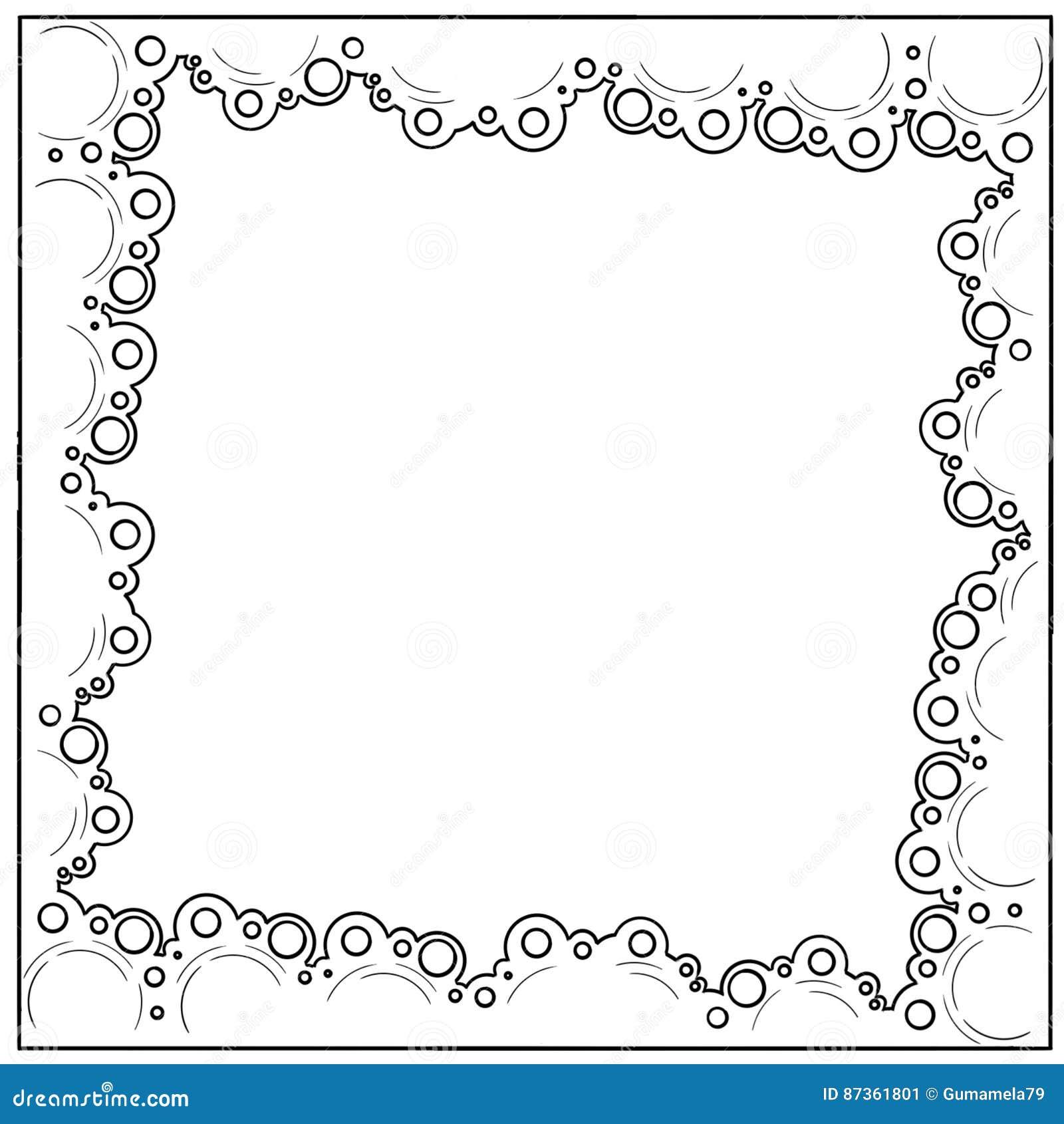 Hand Drawn Sketch Circle Border Frame Stock Illustration