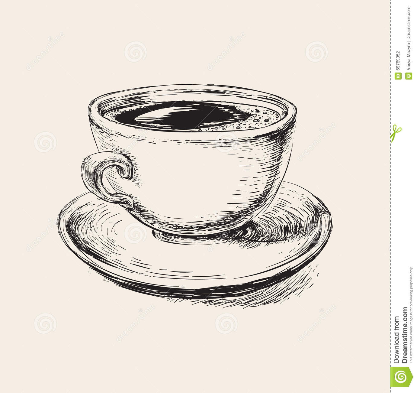 Coffee cup sketch - Royalty Free Vector Download Hand Drawn Sketch Coffee Cup
