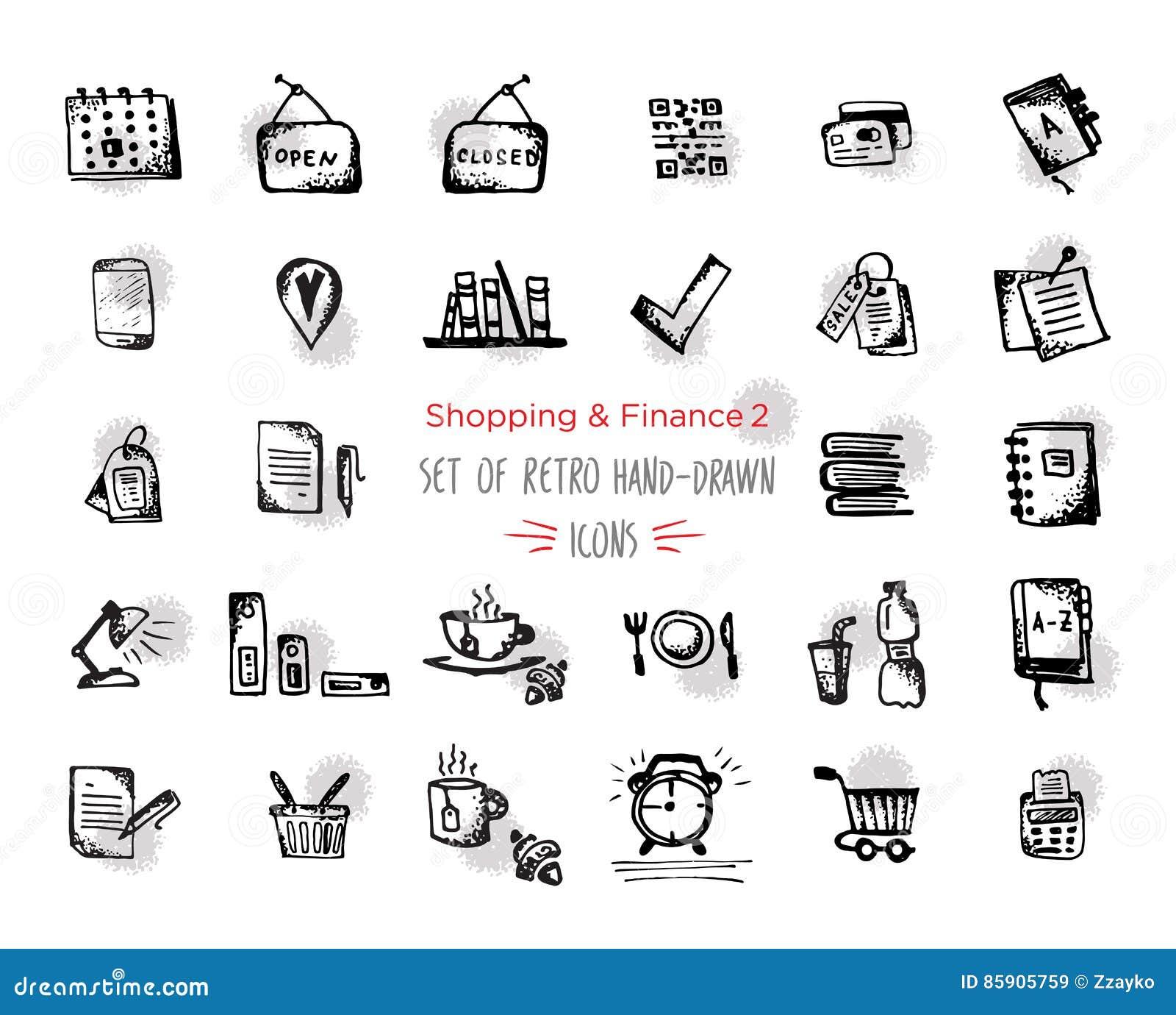 Finance And Money Round Icon Vector Set Cartoon Vector ...