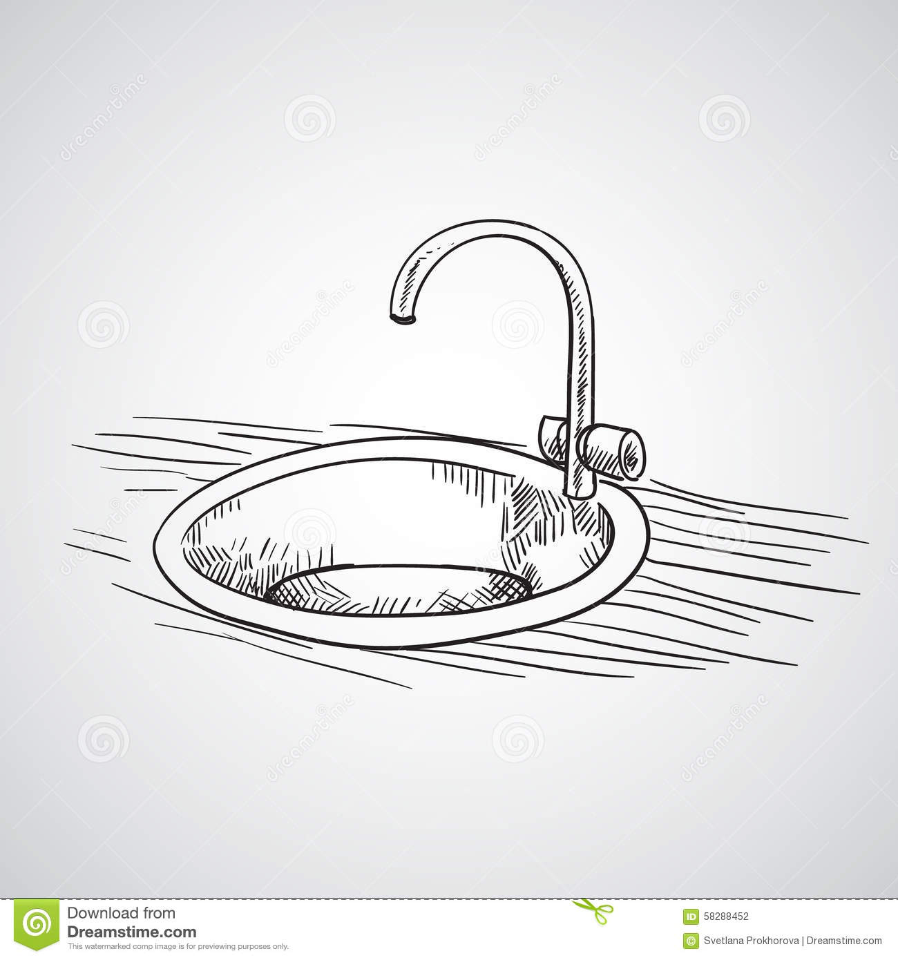 Bathroom sink drawing - Hand Drawn Sketch Hand Drawn Sketch Stock Vector Image 58288452