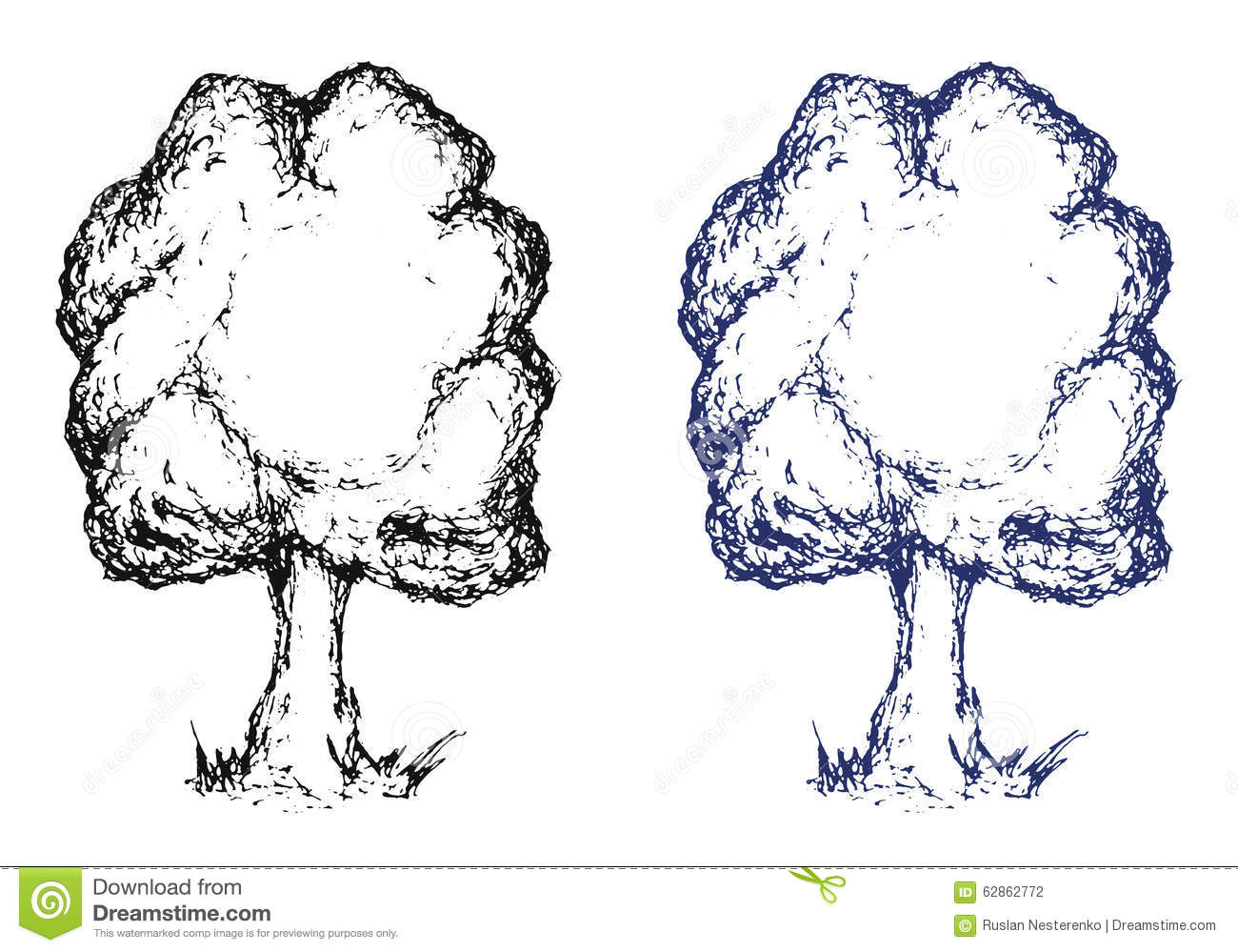 Notebook And Pen Sketch Stock Vector Art More Images Of: Hand Drawn Sketch Tree. Ink Stock Vector
