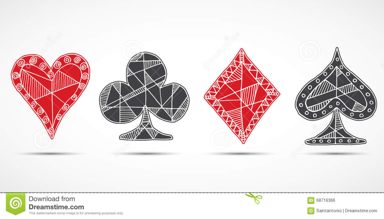 Blackjack playing cards 2 stock vector illustration of jack hand drawn sketched playing cards poker blackjack symbol background doodle hearts diamonds biocorpaavc