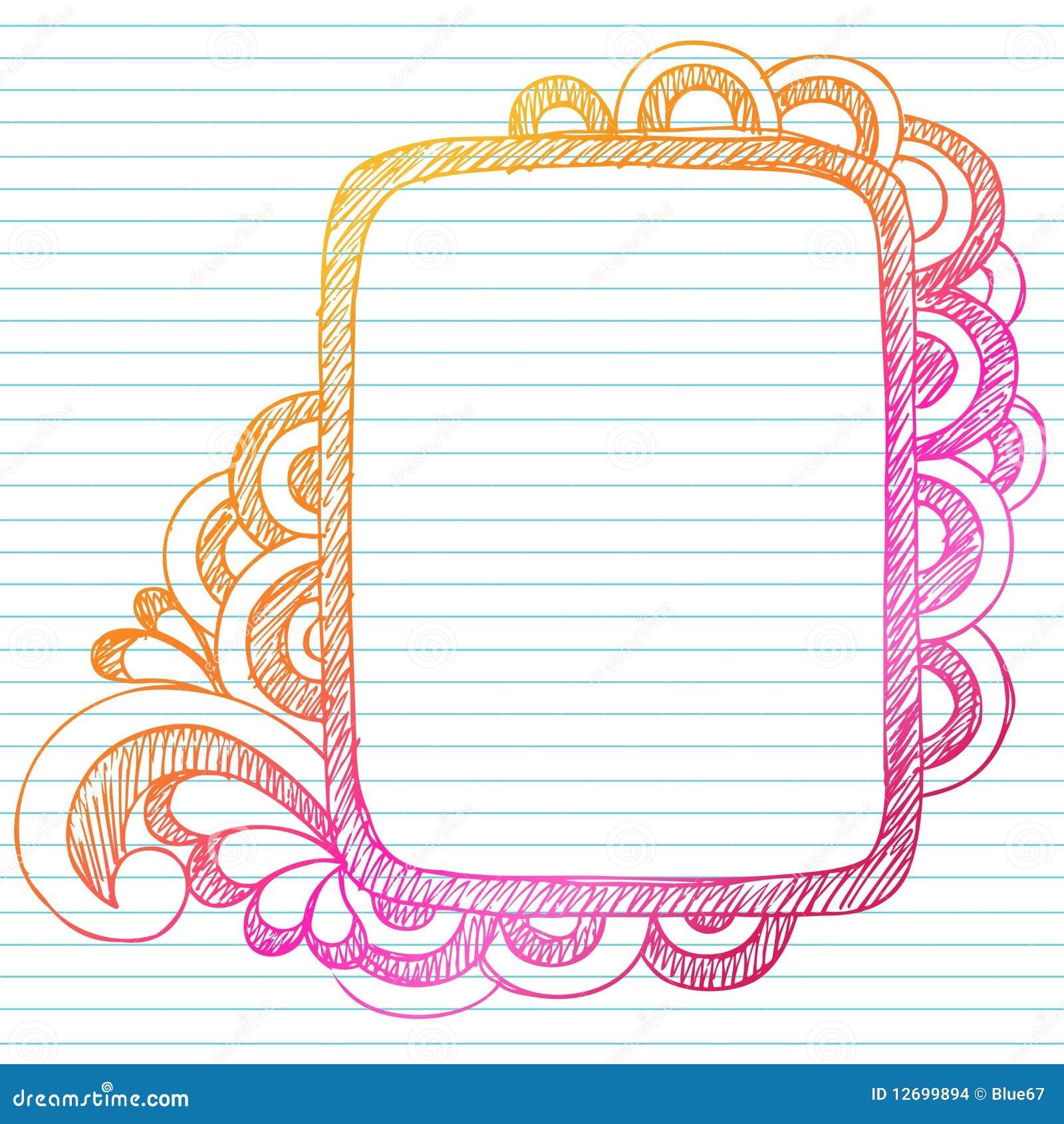 handdrawn sketchy doodle frame stock vector