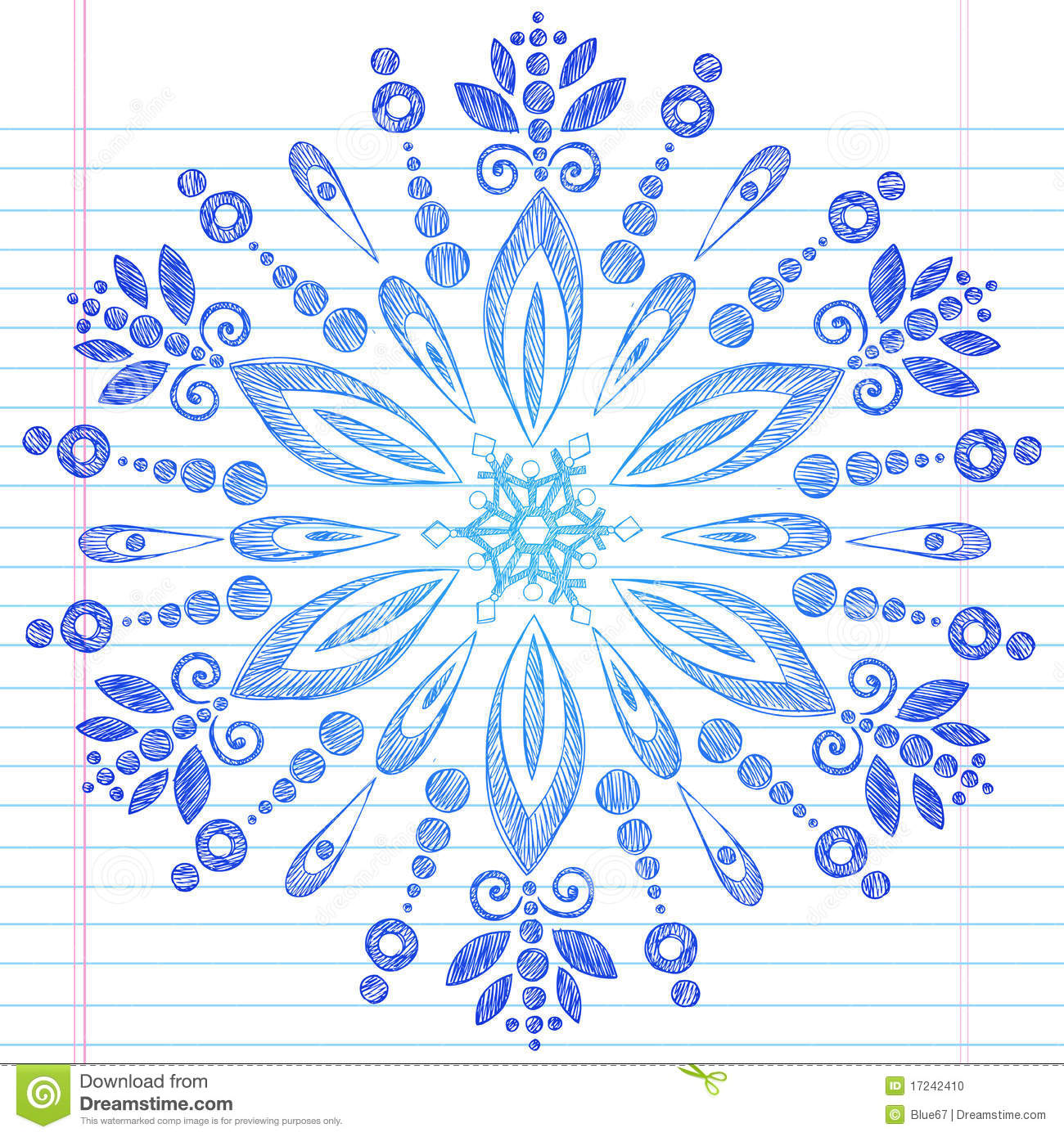 how to draw snowflakes on paper
