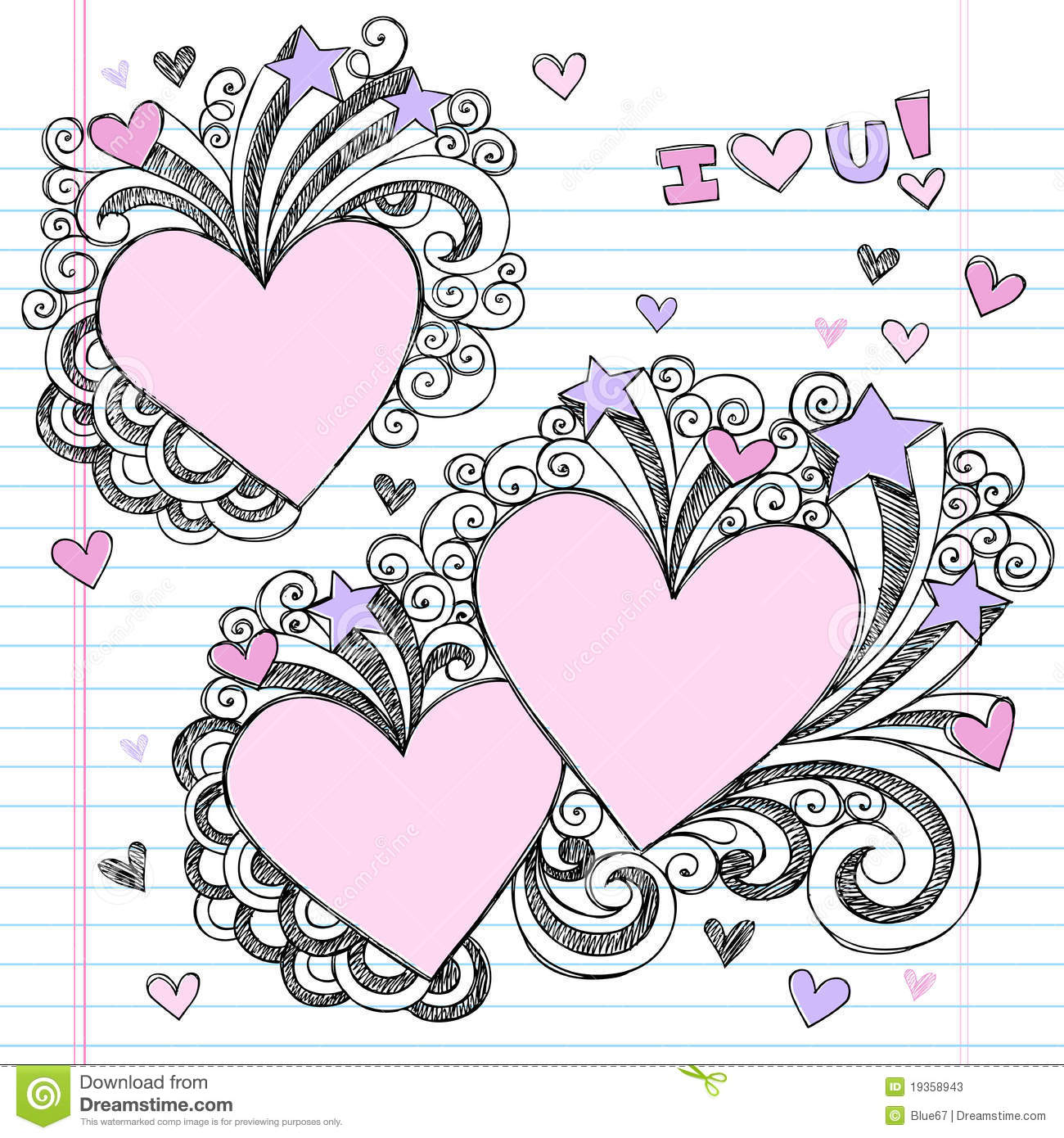 Hand drawn sketchy i love you doodles stock photos image for Love doodles to draw